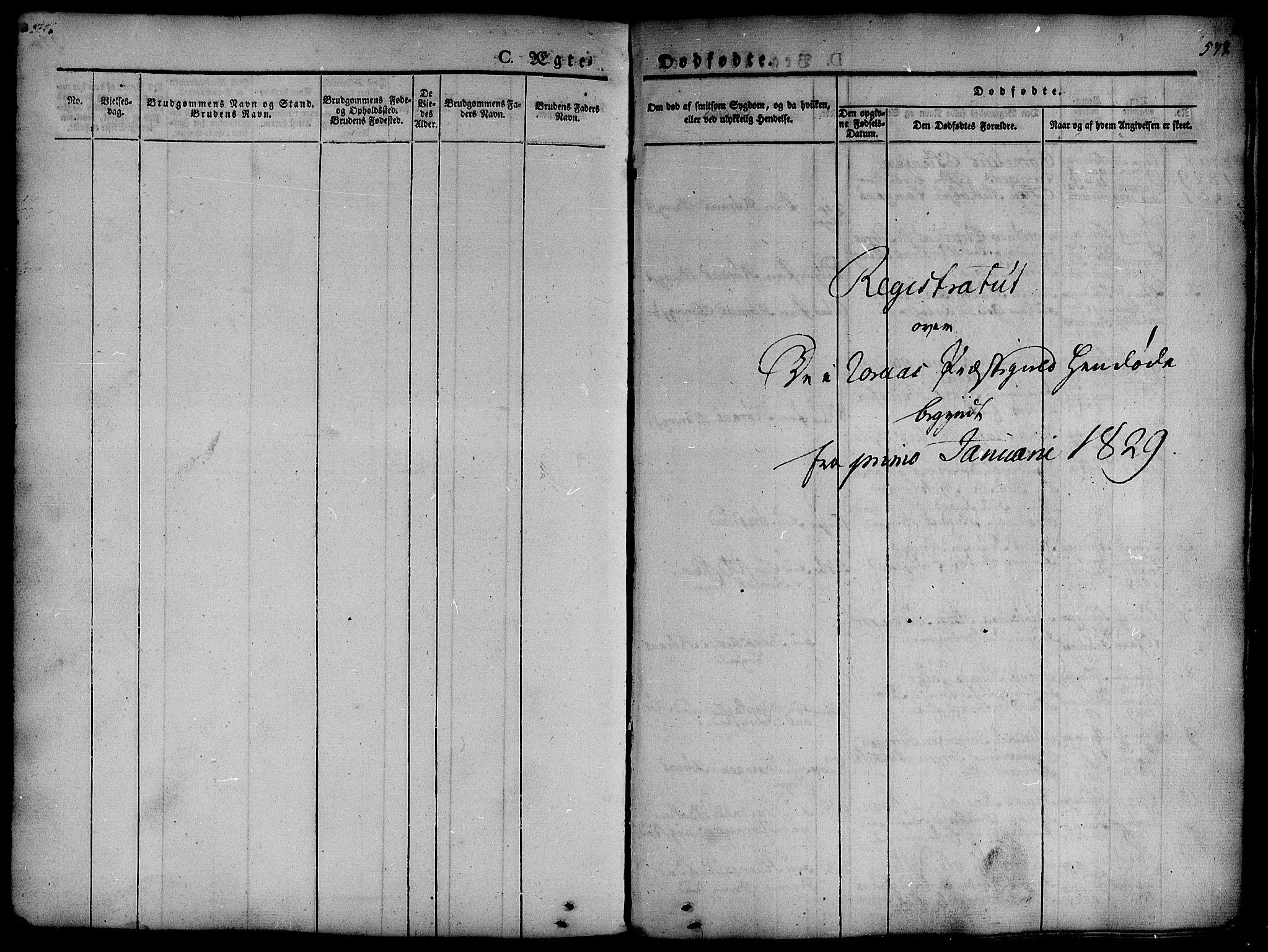 SAT, Ministerialprotokoller, klokkerbøker og fødselsregistre - Sør-Trøndelag, 681/L0939: Klokkerbok nr. 681C03, 1829-1855, s. 577