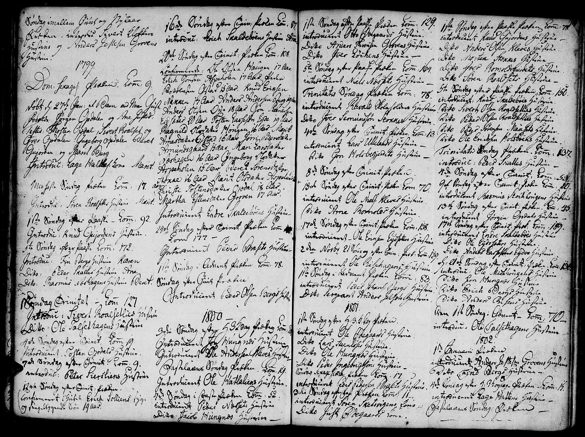 SAT, Ministerialprotokoller, klokkerbøker og fødselsregistre - Møre og Romsdal, 555/L0650: Ministerialbok nr. 555A02 /2, 1798-1821, s. 74