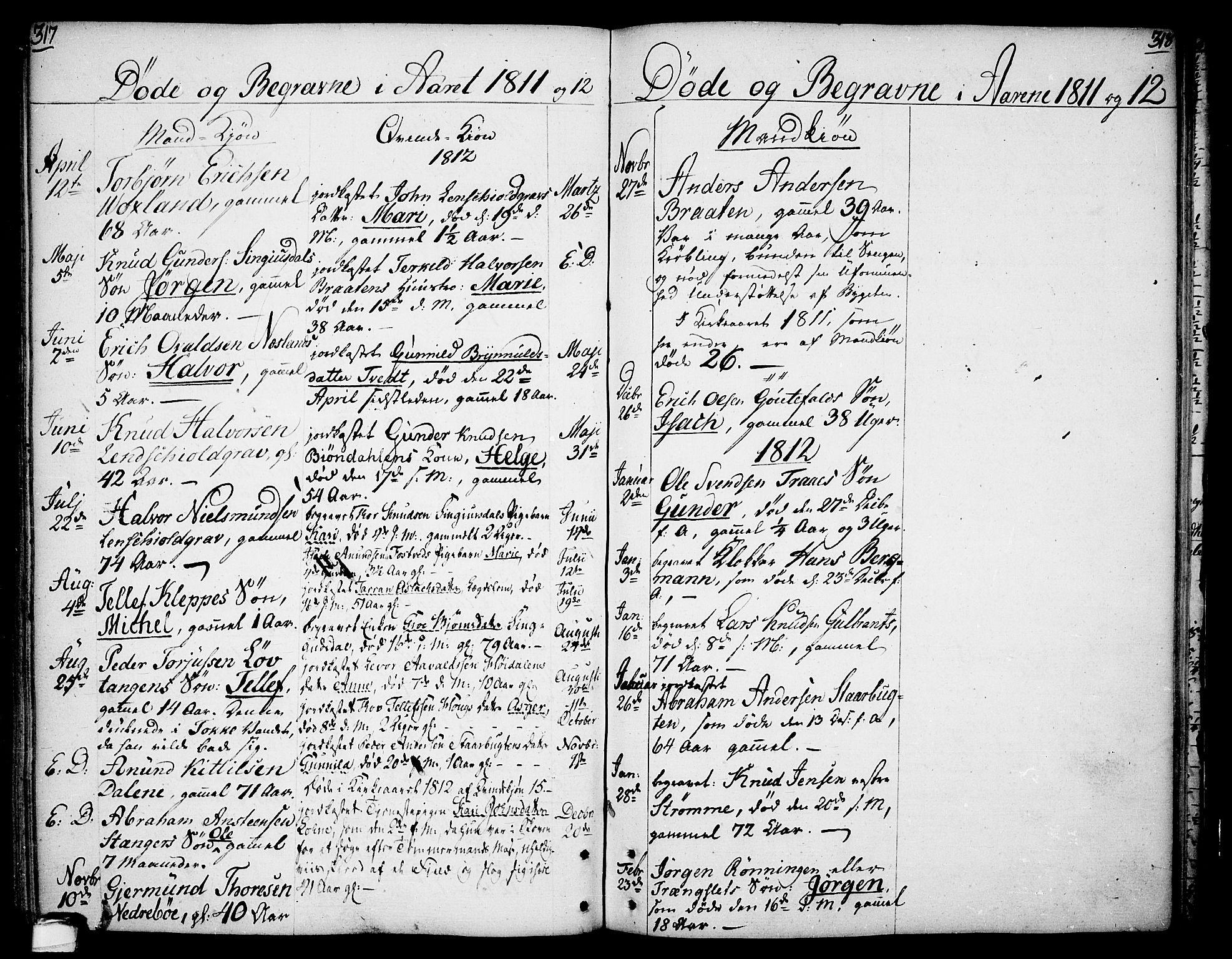 SAKO, Drangedal kirkebøker, F/Fa/L0003: Ministerialbok nr. 3, 1768-1814, s. 317-318