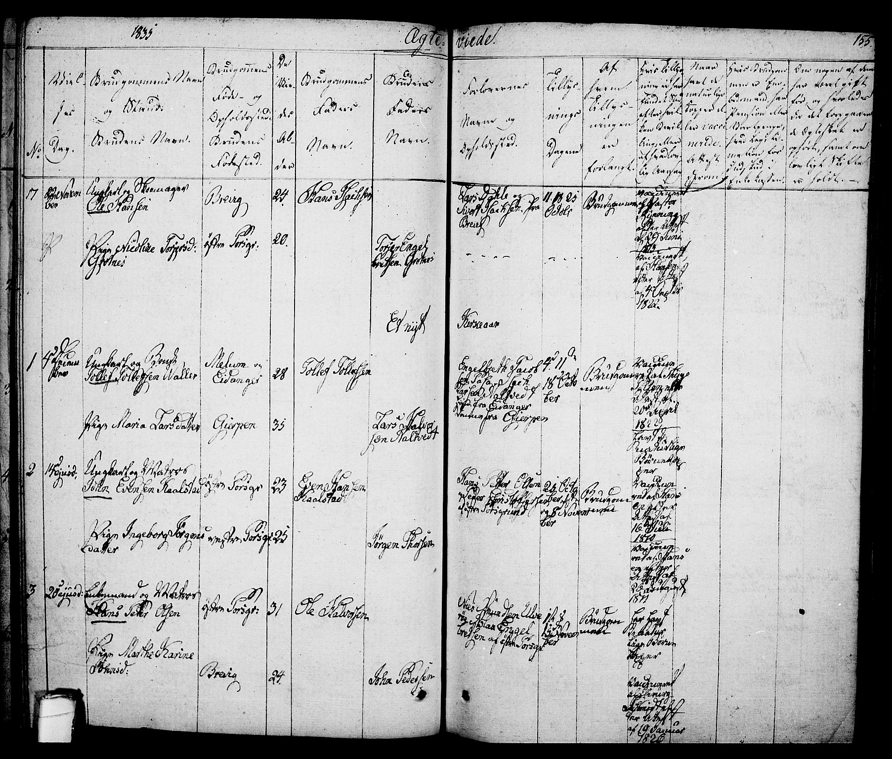 SAKO, Porsgrunn kirkebøker , F/Fa/L0005: Ministerialbok nr. 5, 1828-1840, s. 155