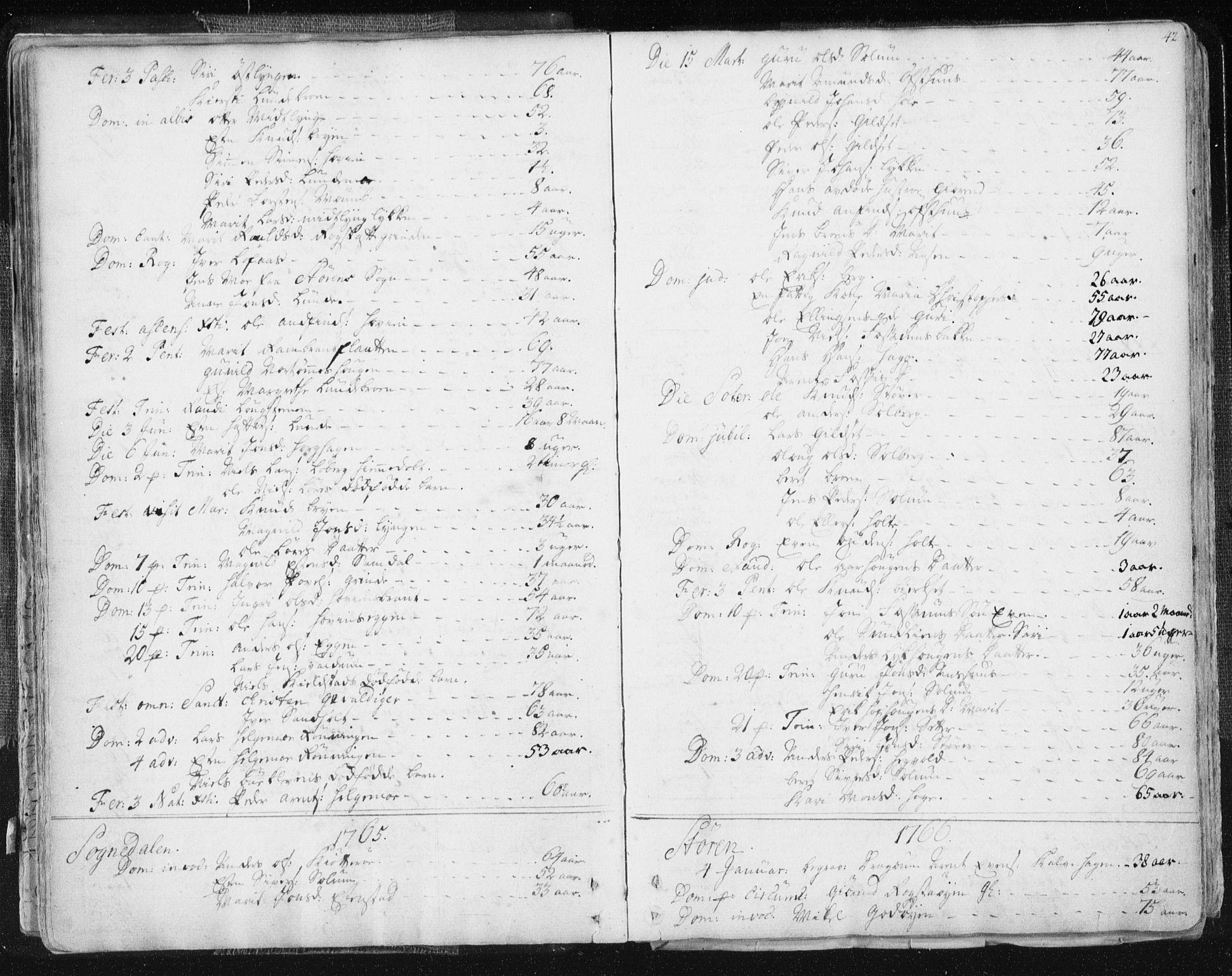 SAT, Ministerialprotokoller, klokkerbøker og fødselsregistre - Sør-Trøndelag, 687/L0991: Ministerialbok nr. 687A02, 1747-1790, s. 42