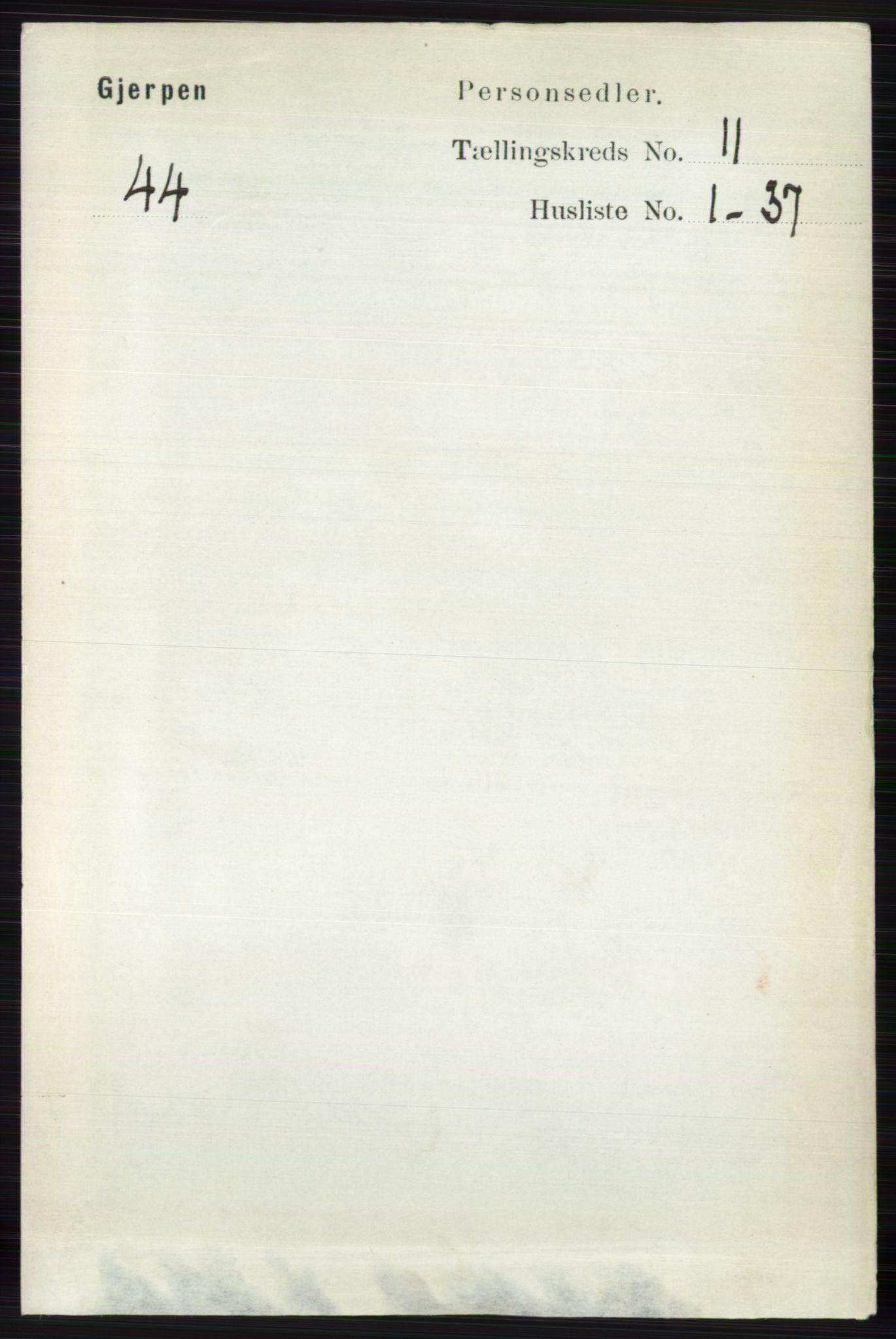 RA, Folketelling 1891 for 0812 Gjerpen herred, 1891, s. 6538