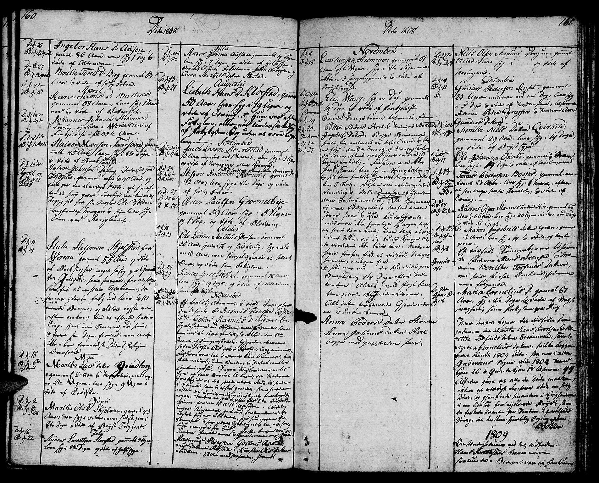 SAT, Ministerialprotokoller, klokkerbøker og fødselsregistre - Nord-Trøndelag, 730/L0274: Ministerialbok nr. 730A03, 1802-1816, s. 160-161