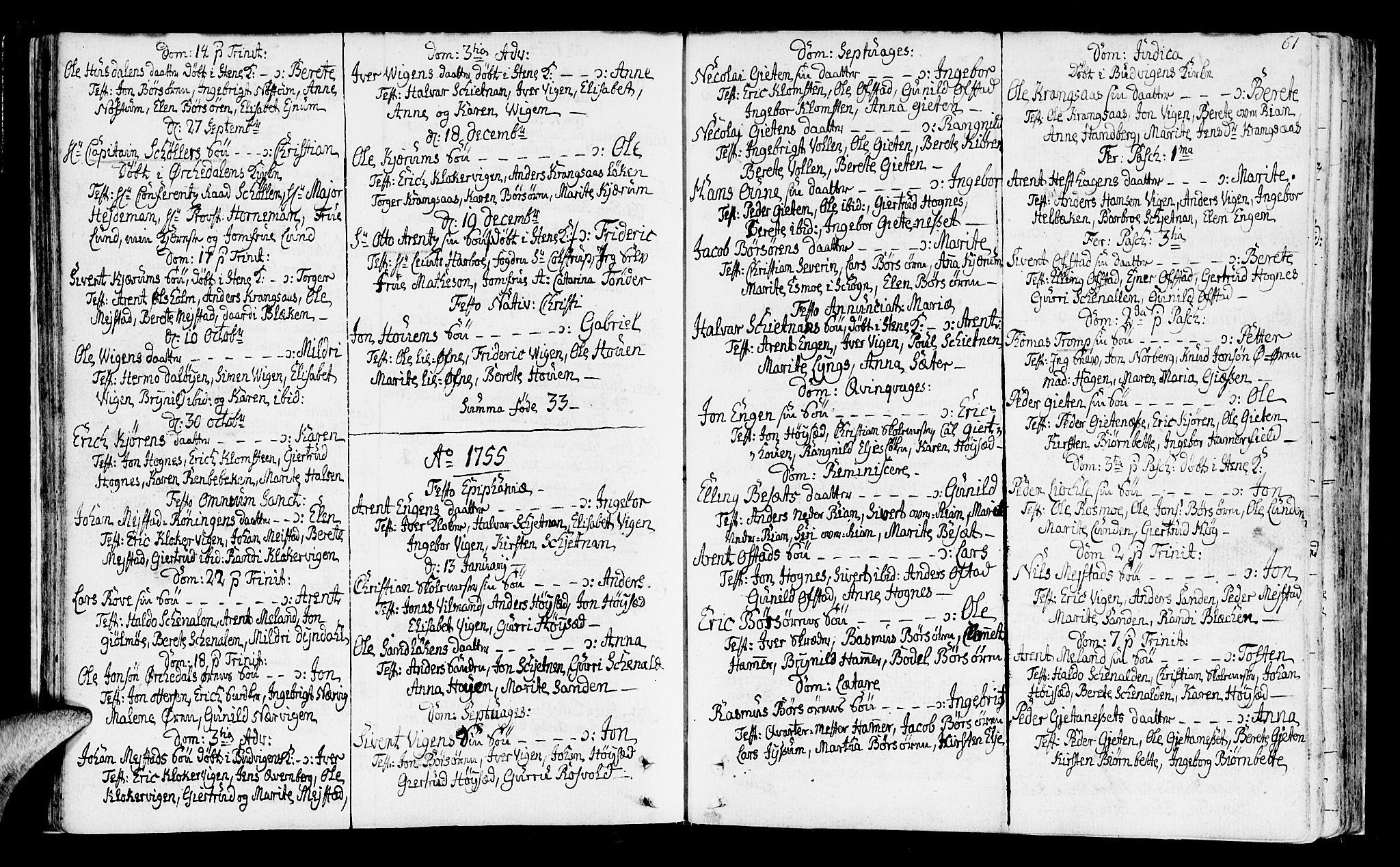 SAT, Ministerialprotokoller, klokkerbøker og fødselsregistre - Sør-Trøndelag, 665/L0768: Ministerialbok nr. 665A03, 1754-1803, s. 61