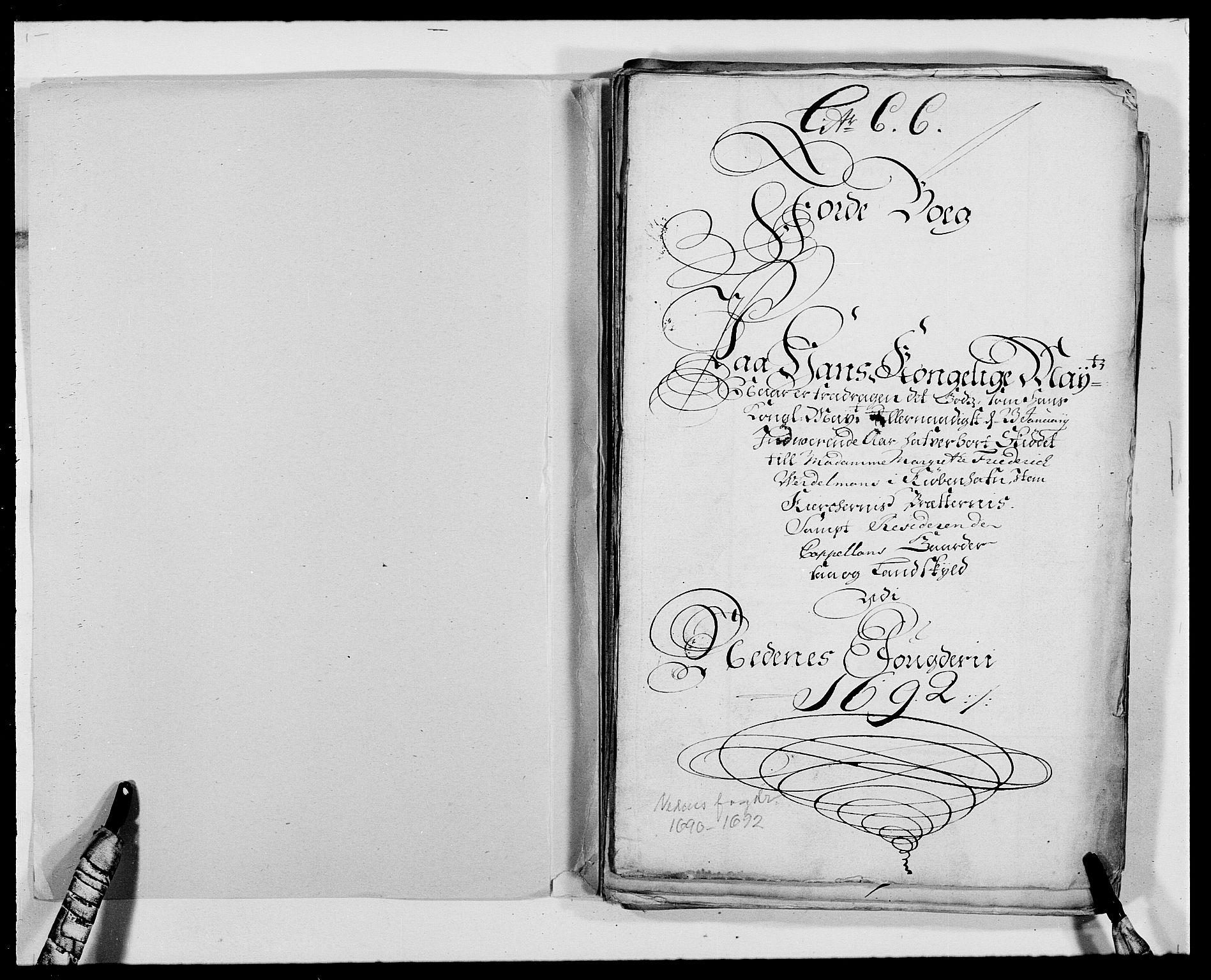 RA, Rentekammeret inntil 1814, Reviderte regnskaper, Fogderegnskap, R39/L2311: Fogderegnskap Nedenes, 1690-1692, s. 147