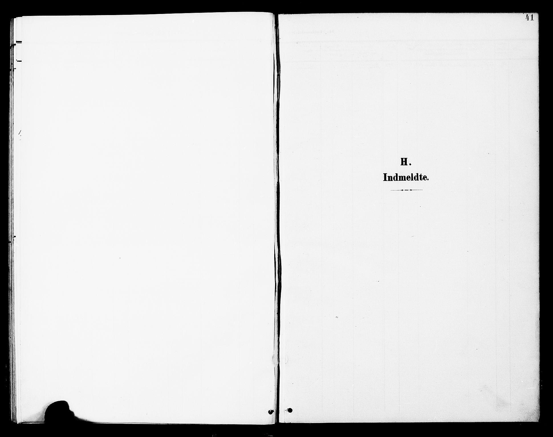 SAT, Ministerialprotokoller, klokkerbøker og fødselsregistre - Nord-Trøndelag, 748/L0464: Ministerialbok nr. 748A01, 1900-1908, s. 41