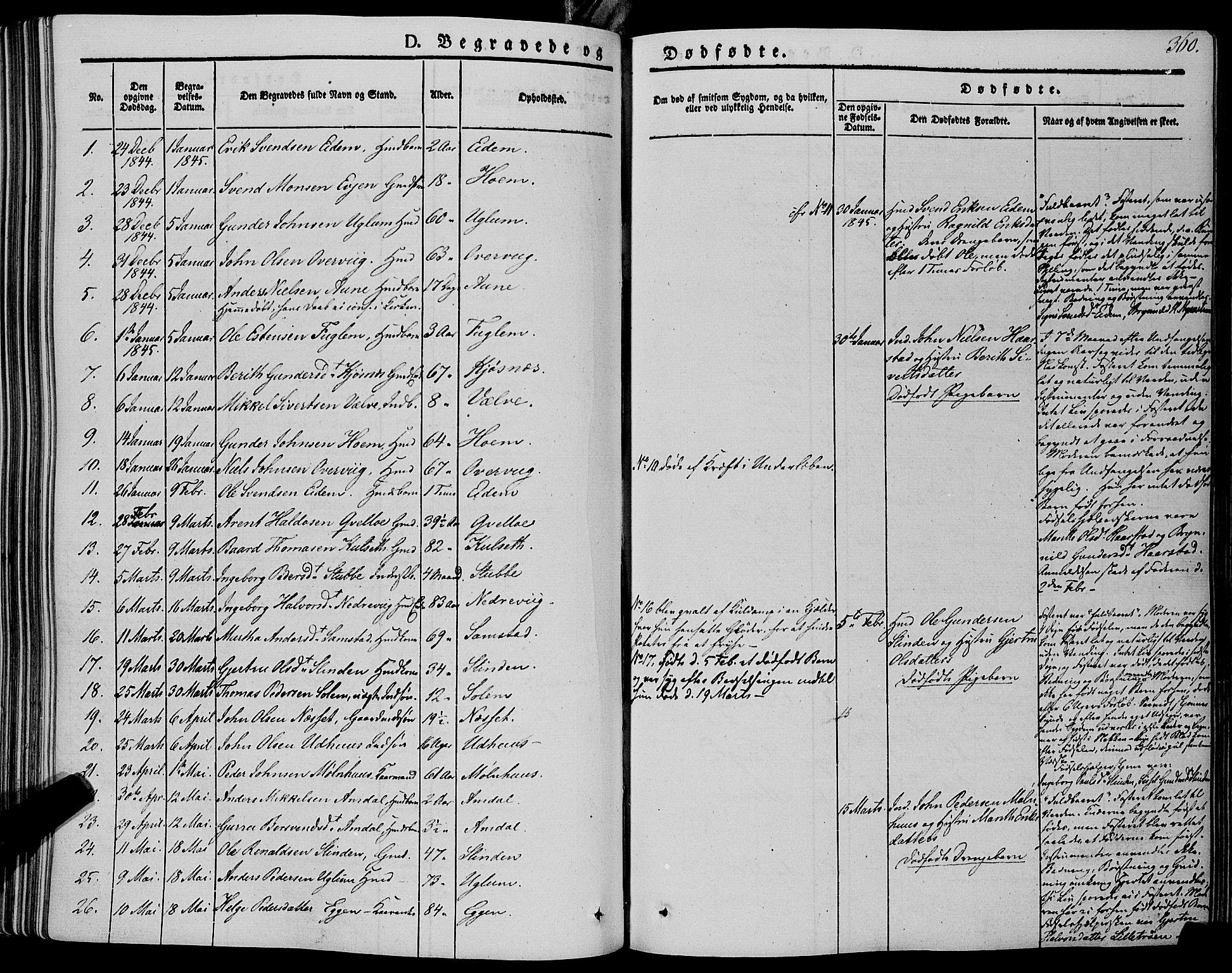 SAT, Ministerialprotokoller, klokkerbøker og fødselsregistre - Sør-Trøndelag, 695/L1145: Ministerialbok nr. 695A06 /1, 1843-1859, s. 360