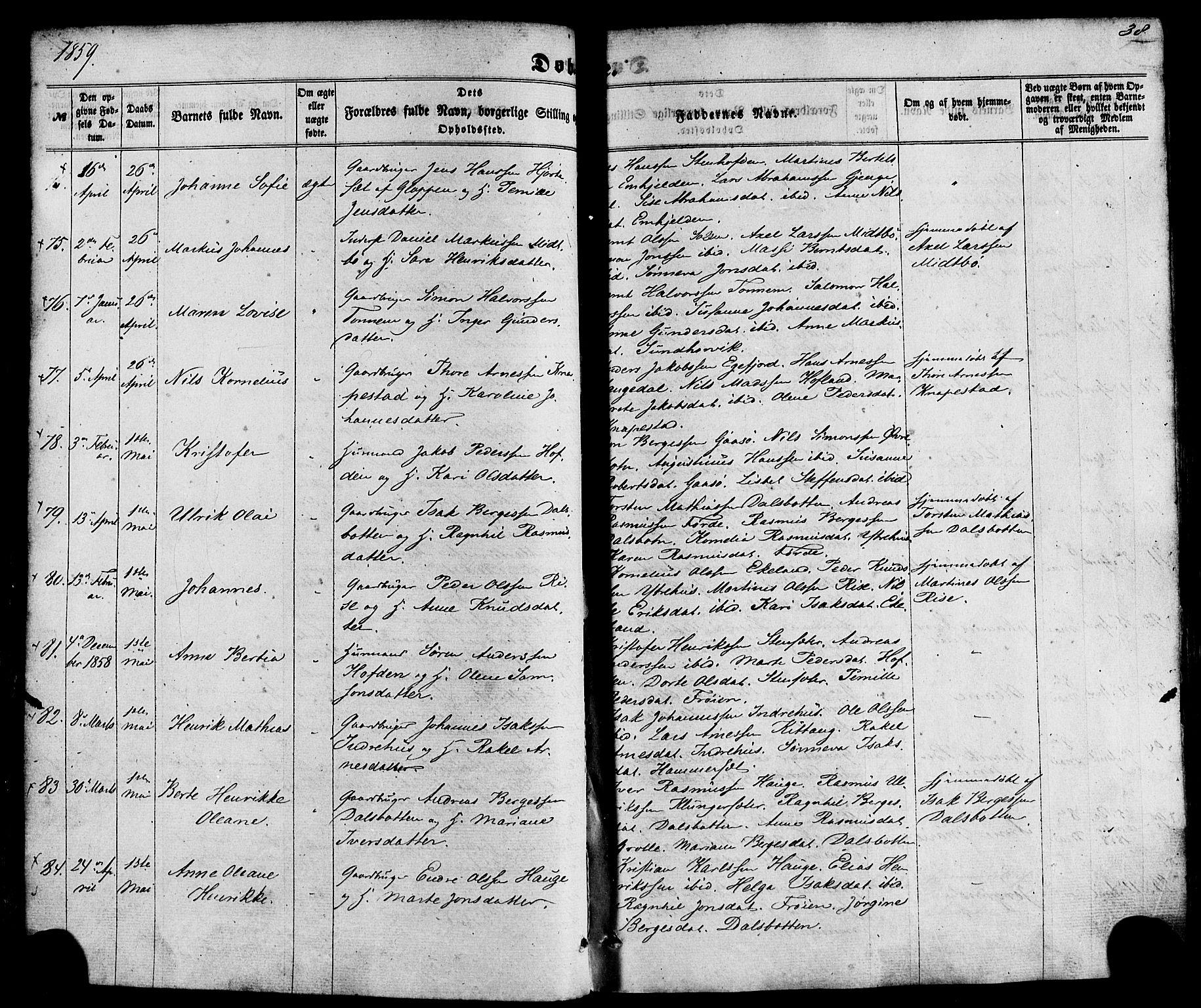 SAB, Kinn Sokneprestembete, Ministerialbok nr. A 6, 1857-1885, s. 38