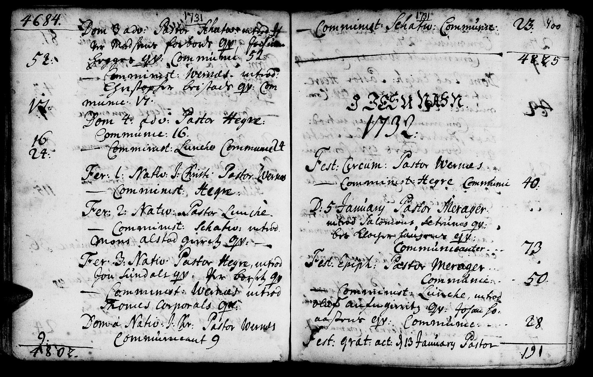 SAT, Ministerialprotokoller, klokkerbøker og fødselsregistre - Nord-Trøndelag, 709/L0054: Ministerialbok nr. 709A02, 1714-1738, s. 399-400