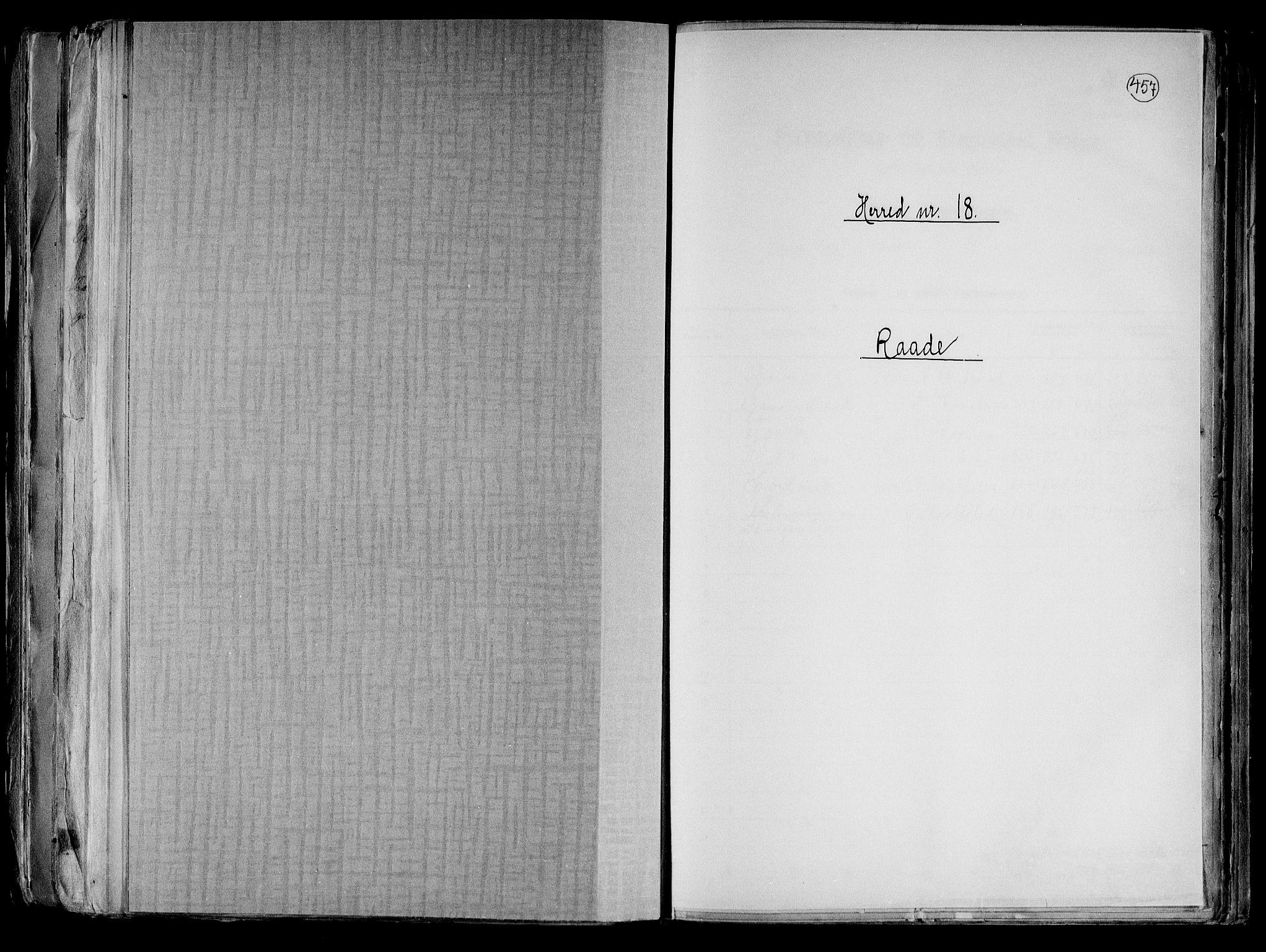 RA, Folketelling 1891 for 0135 Råde herred, 1891, s. 1