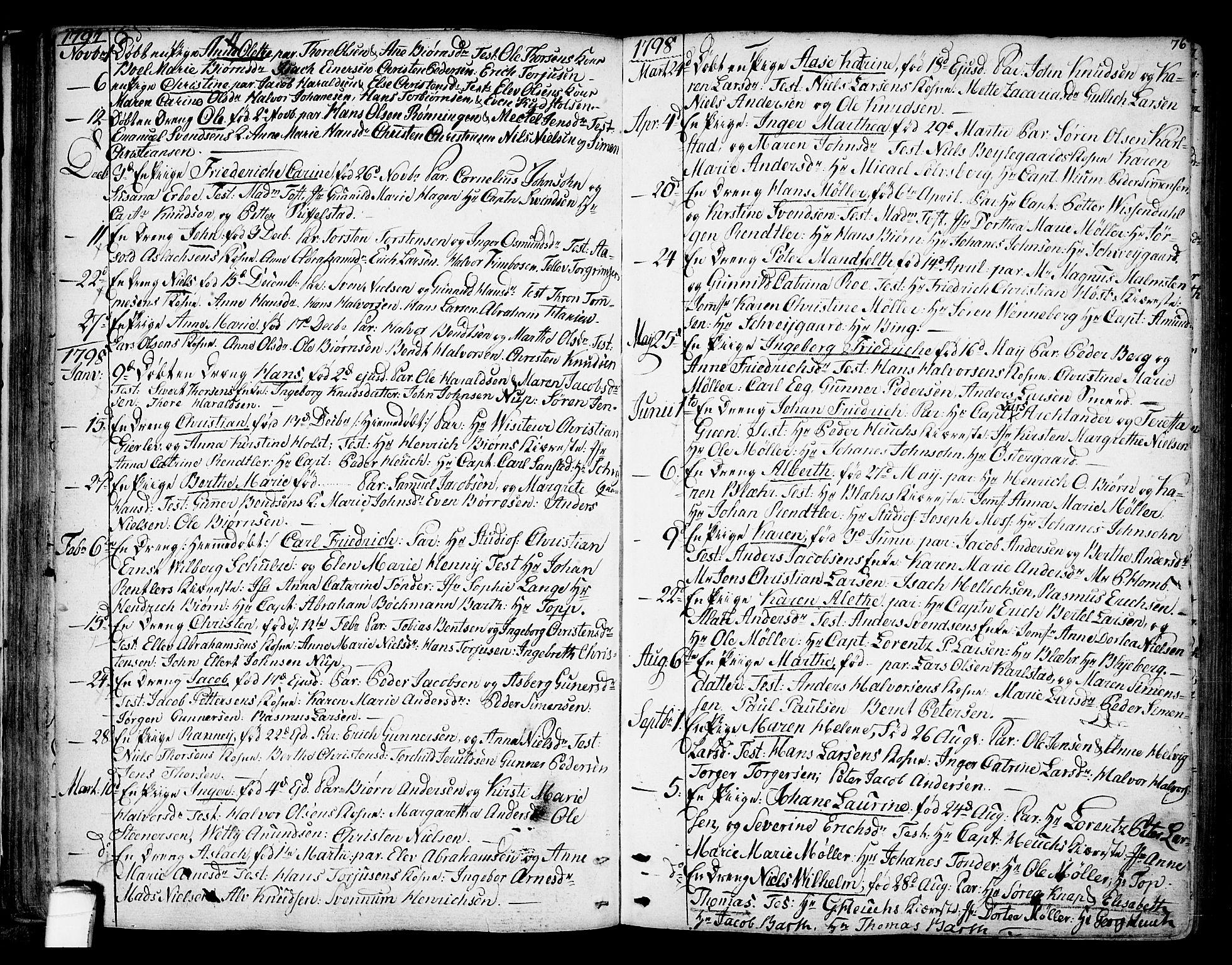 SAKO, Kragerø kirkebøker, F/Fa/L0002: Ministerialbok nr. 2, 1767-1802, s. 76
