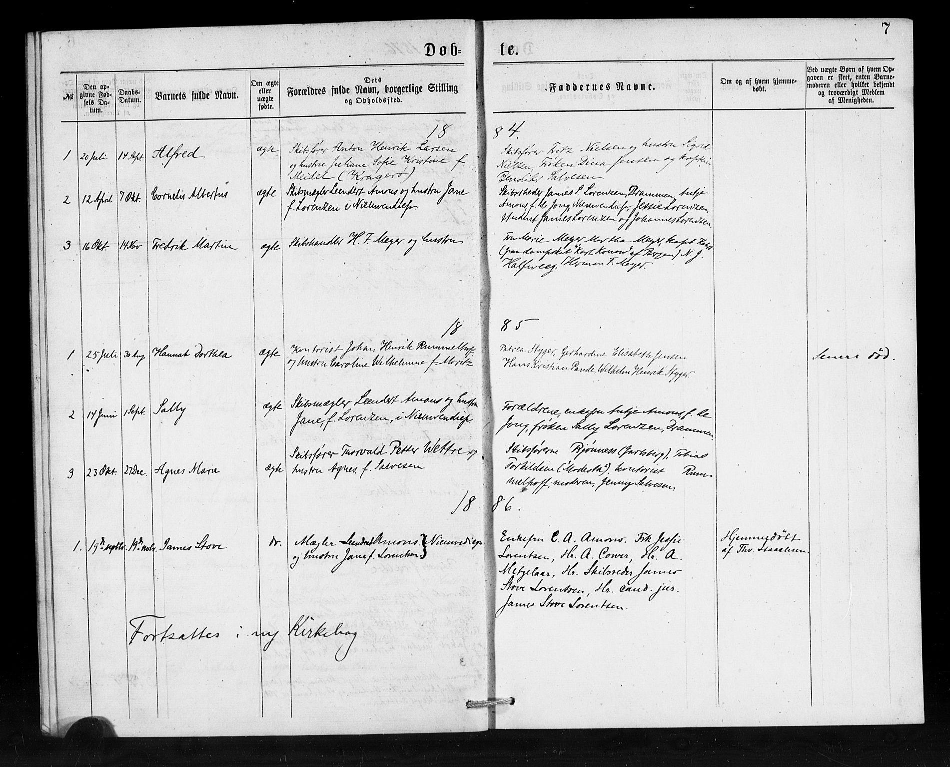 SAB, Den Norske Sjømannsmisjon i utlandet*, Ministerialbok nr. A 1, 1876-1887, s. 7