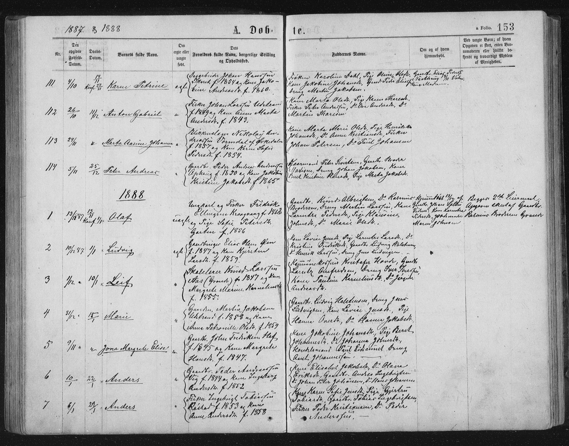 SAT, Ministerialprotokoller, klokkerbøker og fødselsregistre - Sør-Trøndelag, 659/L0745: Klokkerbok nr. 659C02, 1869-1892, s. 153