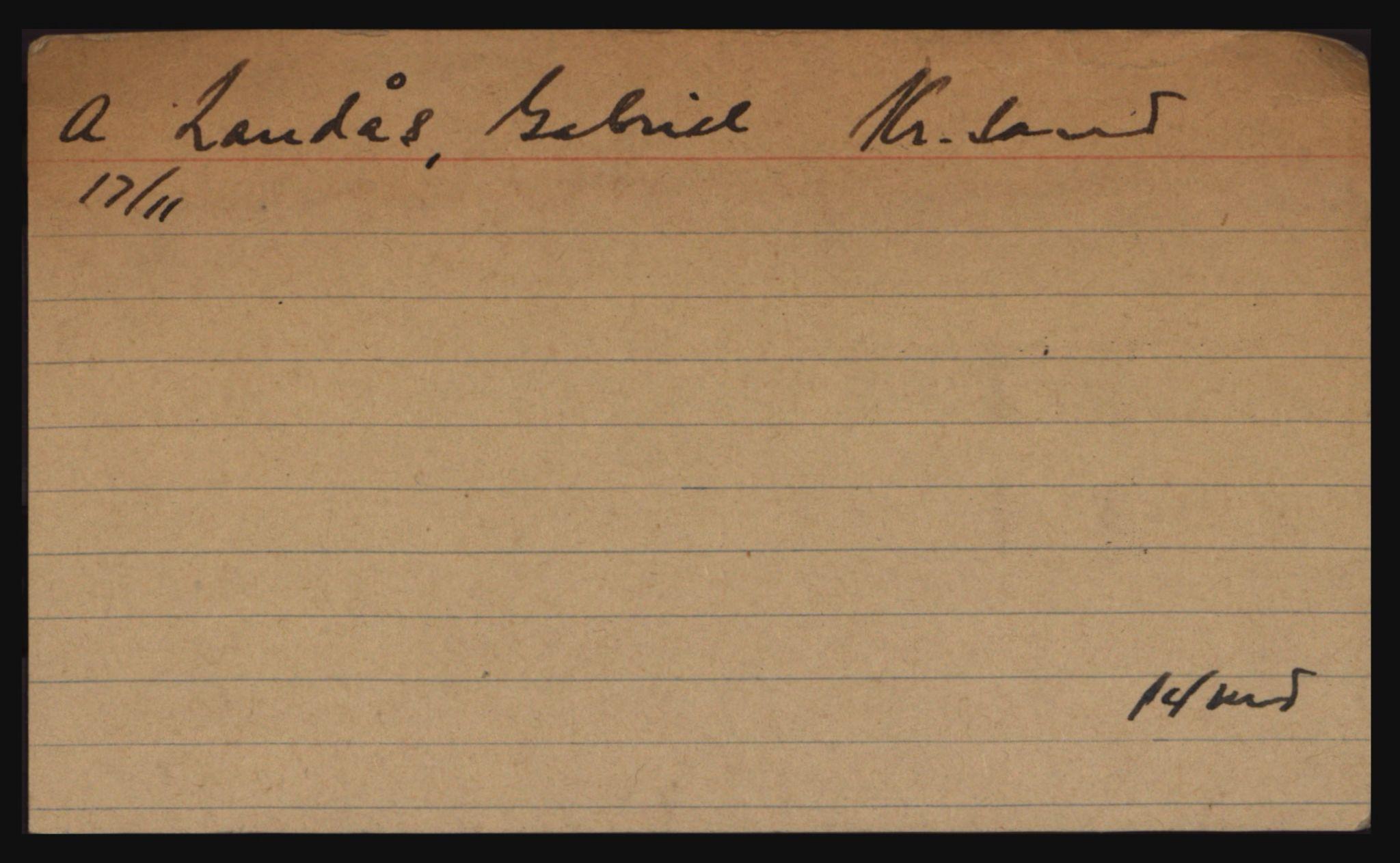 RA, Befehlshaber der Sicherheitspolizei und des SD, E/Eb/L0002: Kartotekkort over fanger i Akershus fengsel: L-Å, 1940-1945