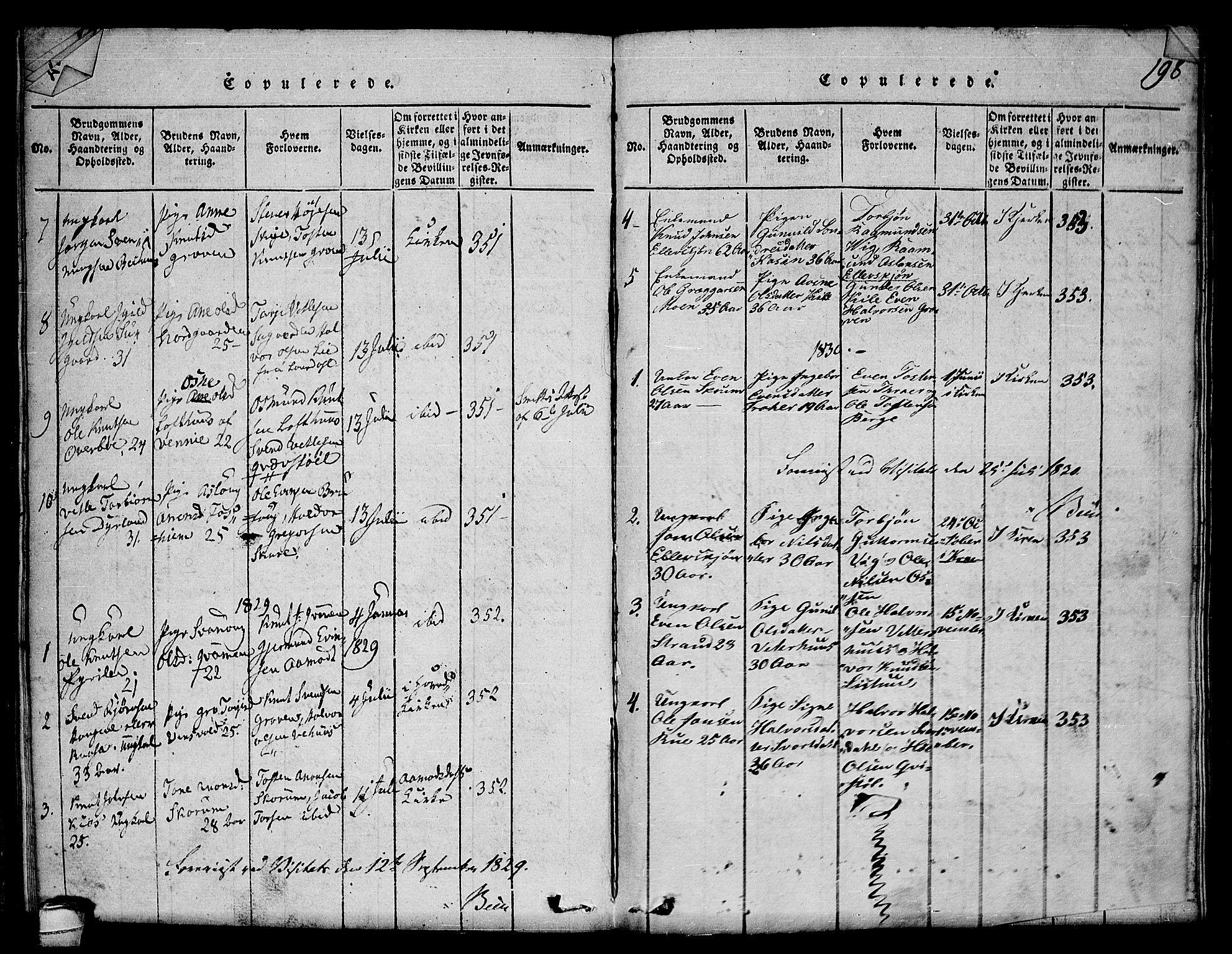 SAKO, Seljord kirkebøker, F/Fc/L0001: Ministerialbok nr. III 1, 1815-1831, s. 198