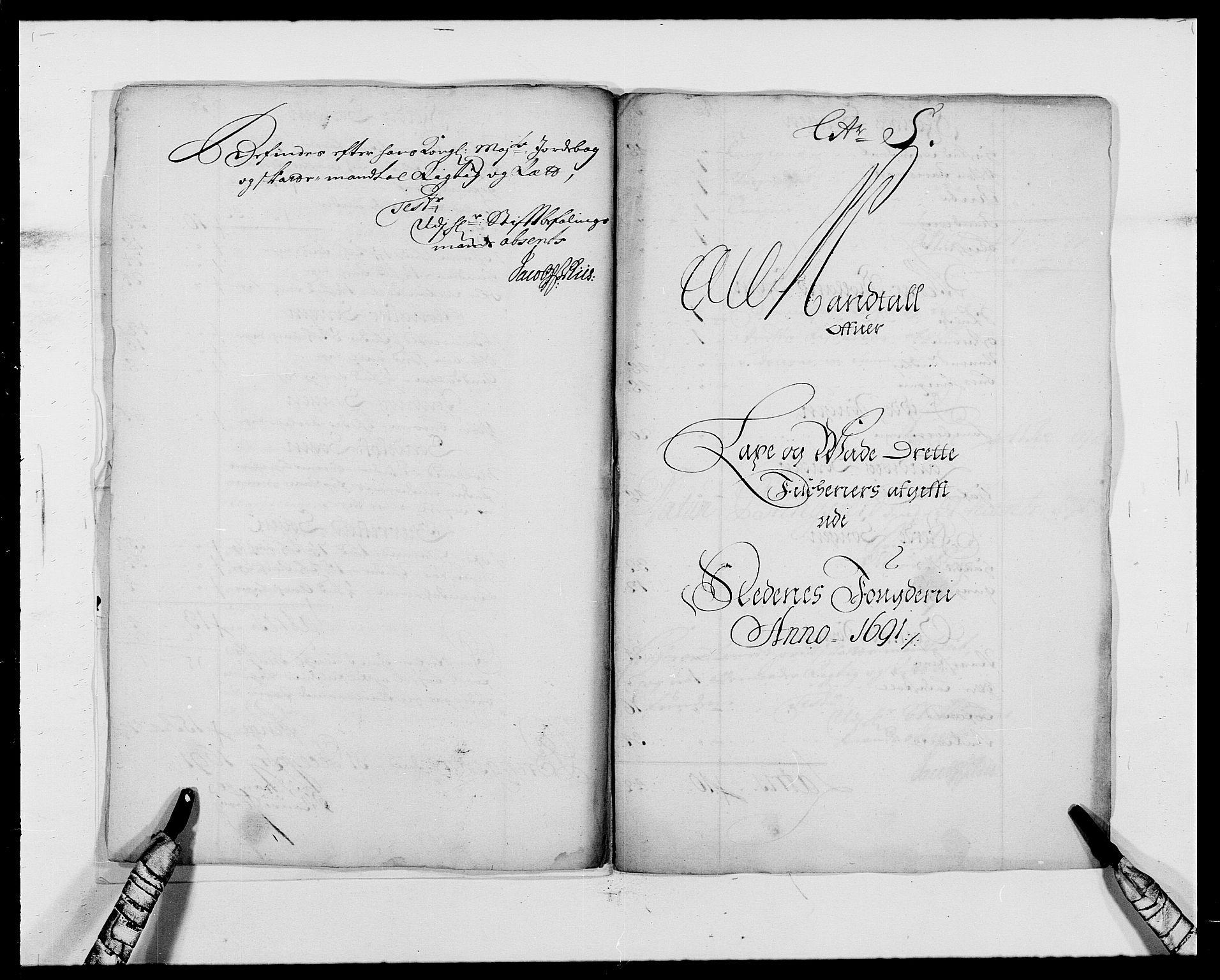 RA, Rentekammeret inntil 1814, Reviderte regnskaper, Fogderegnskap, R39/L2311: Fogderegnskap Nedenes, 1690-1692, s. 14