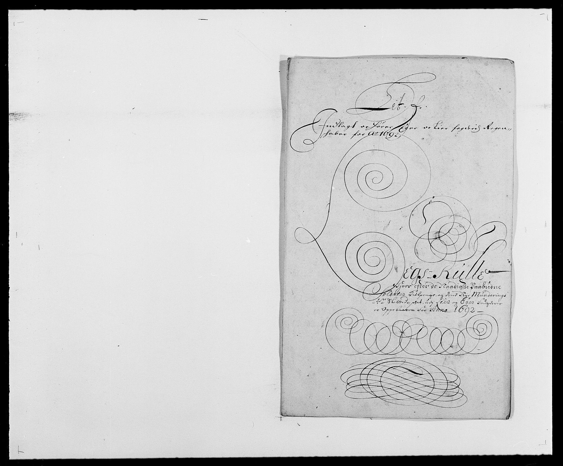 RA, Rentekammeret inntil 1814, Reviderte regnskaper, Fogderegnskap, R28/L1690: Fogderegnskap Eiker og Lier, 1692-1693, s. 60