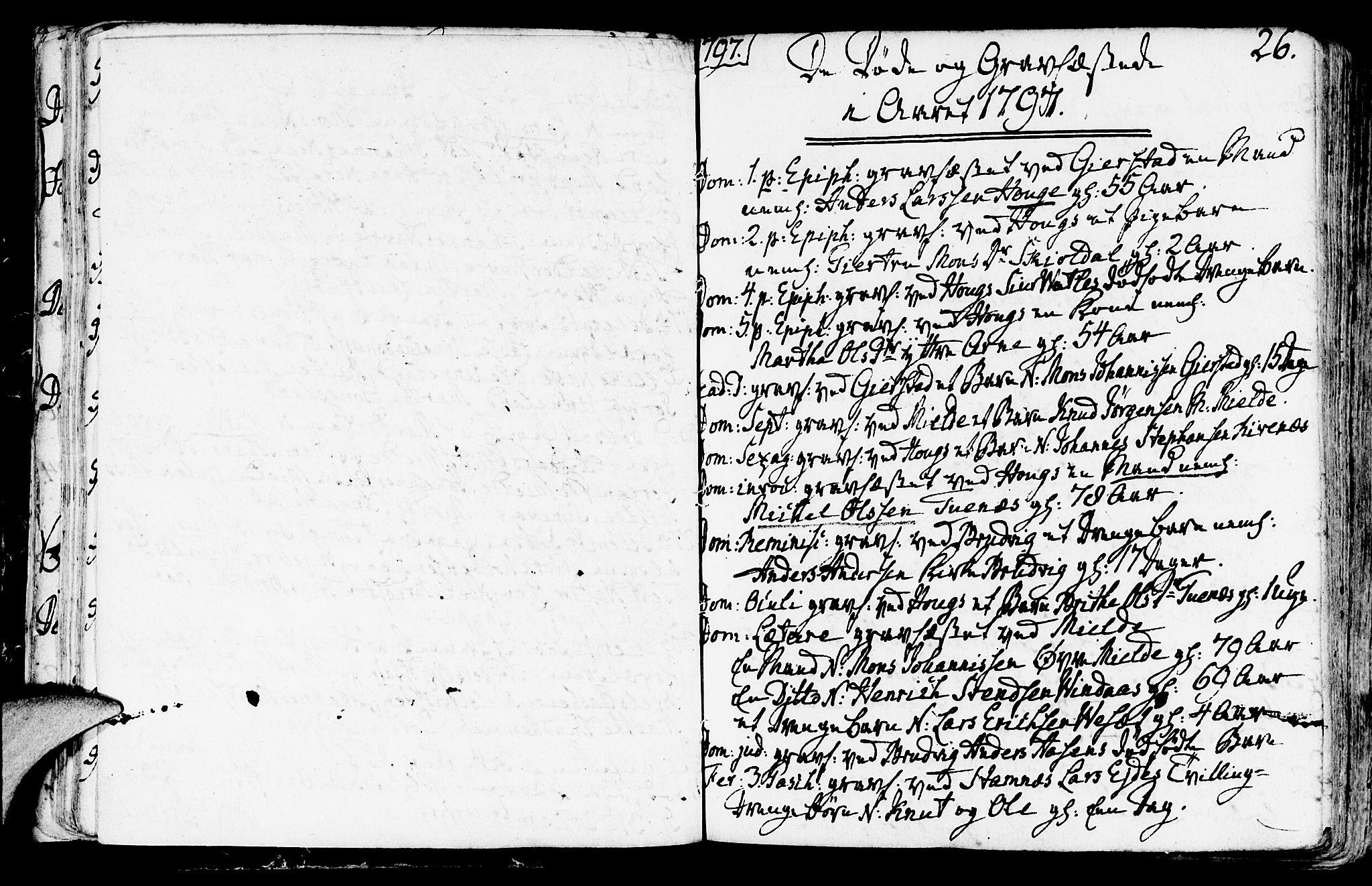 SAB, Haus sokneprestembete, H/Haa: Ministerialbok nr. A 11, 1796-1816, s. 26