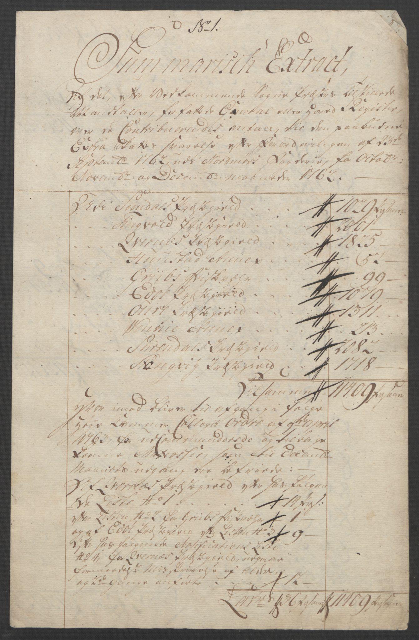 RA, Rentekammeret inntil 1814, Reviderte regnskaper, Fogderegnskap, R56/L3841: Ekstraskatten Nordmøre, 1762-1763, s. 160