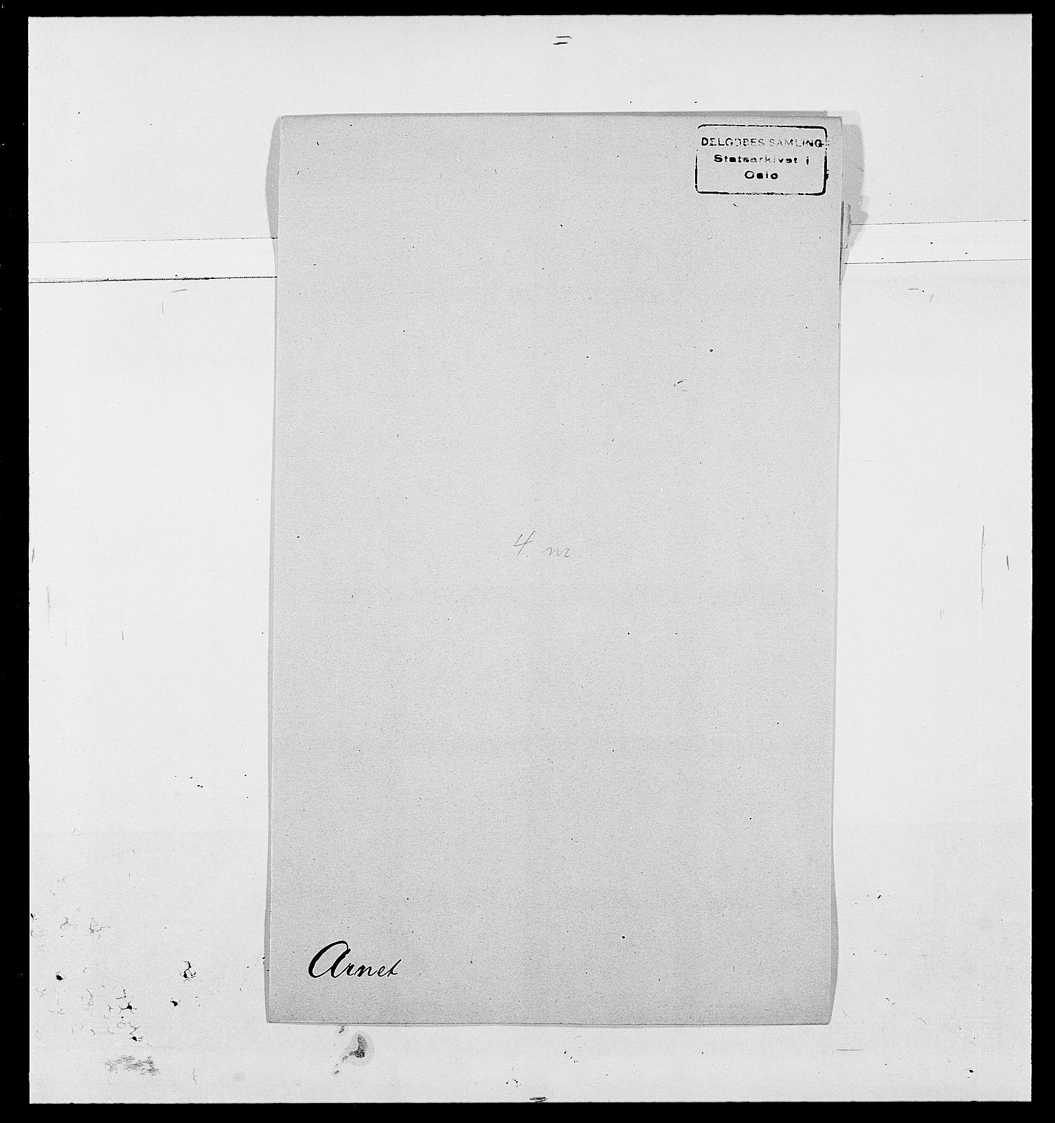 SAO, Delgobe, Charles Antoine - samling, D/Da/L0002: Anker, Ancher - Bauner, s. 350
