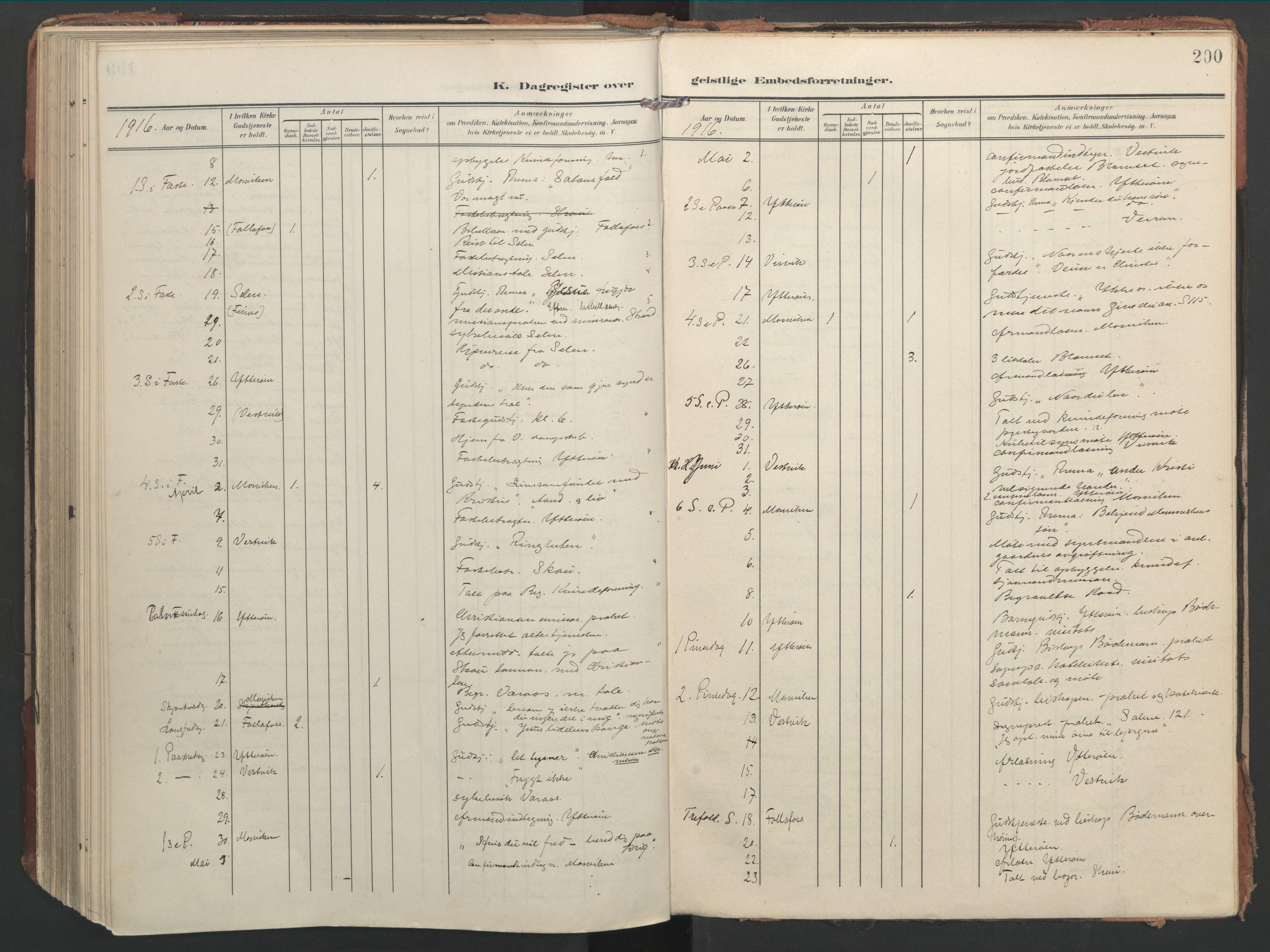 SAT, Ministerialprotokoller, klokkerbøker og fødselsregistre - Nord-Trøndelag, 744/L0421: Ministerialbok nr. 744A05, 1905-1930, s. 200