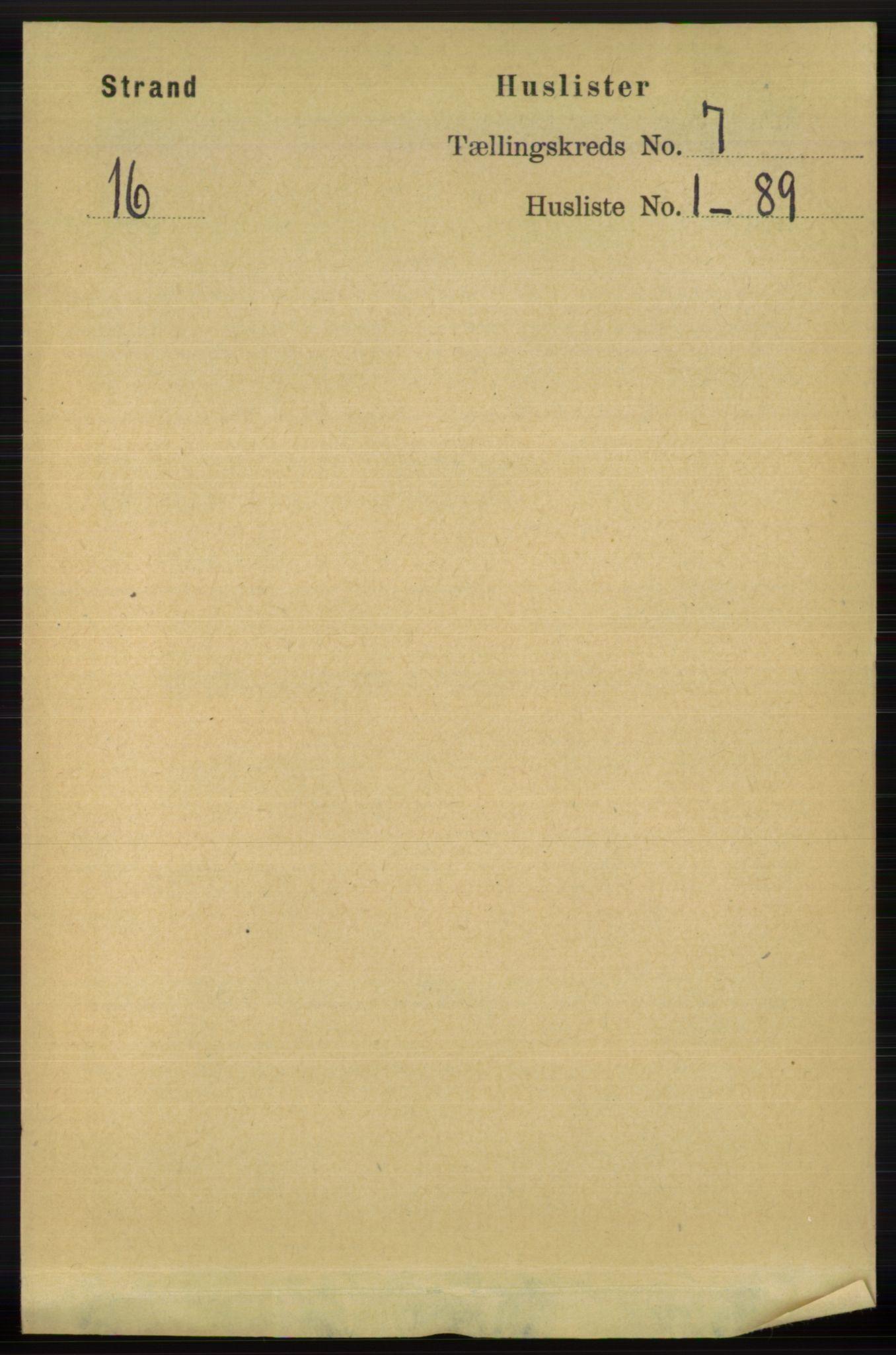 RA, Folketelling 1891 for 1130 Strand herred, 1891, s. 1861