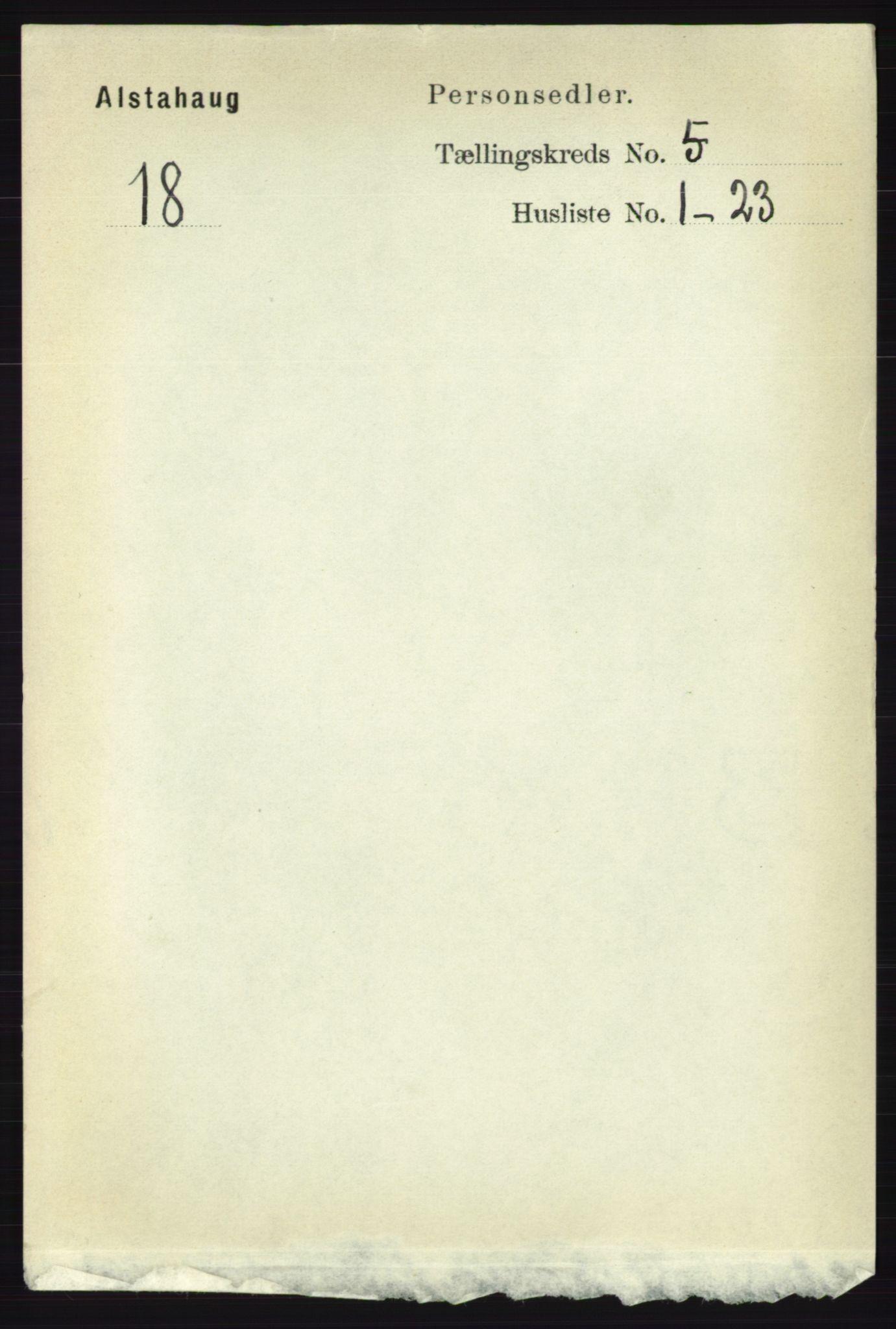 RA, Folketelling 1891 for 1820 Alstahaug herred, 1891, s. 1782