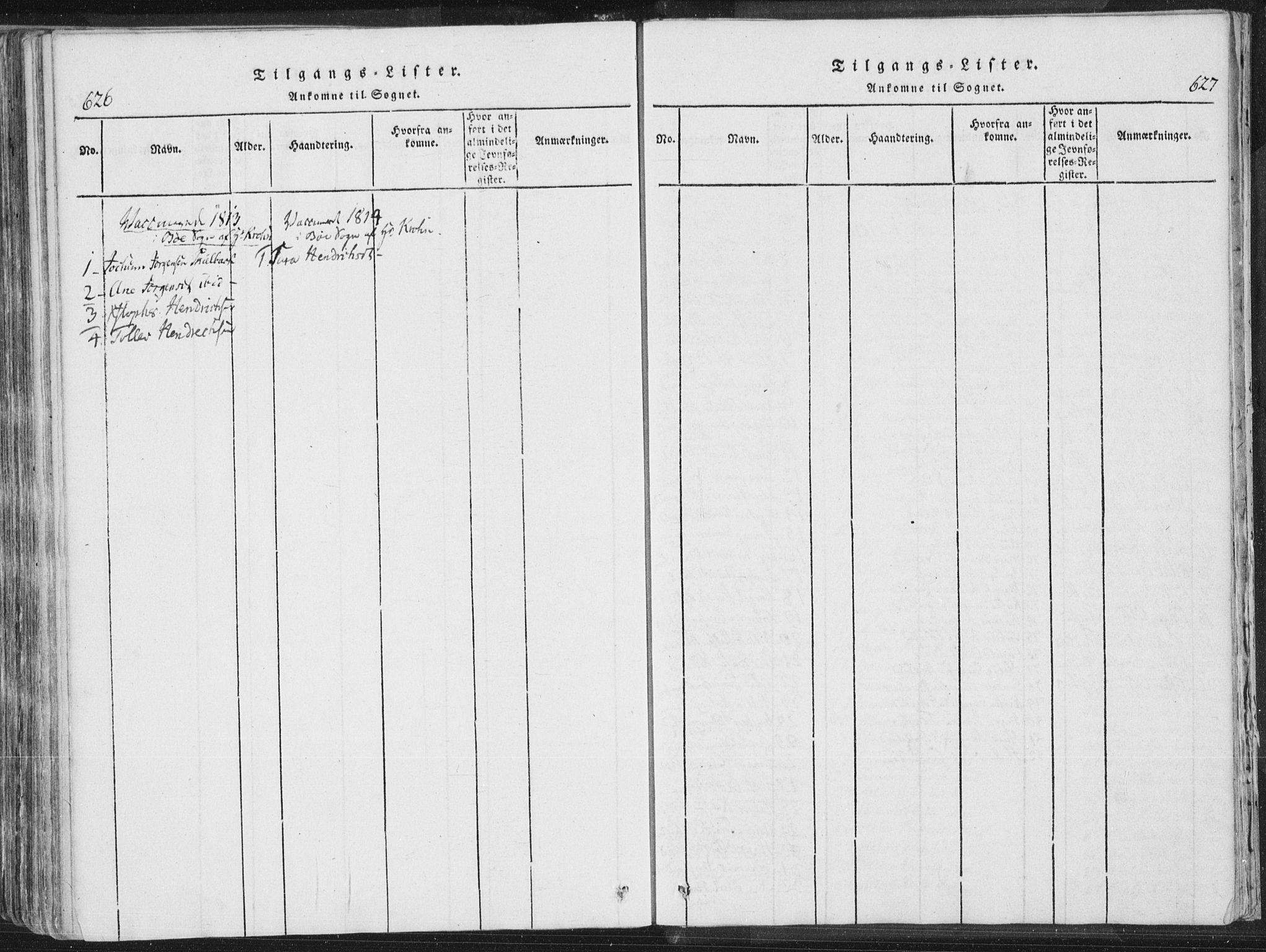 SAKO, Bø kirkebøker, F/Fa/L0006: Ministerialbok nr. 6, 1815-1831, s. 626-627