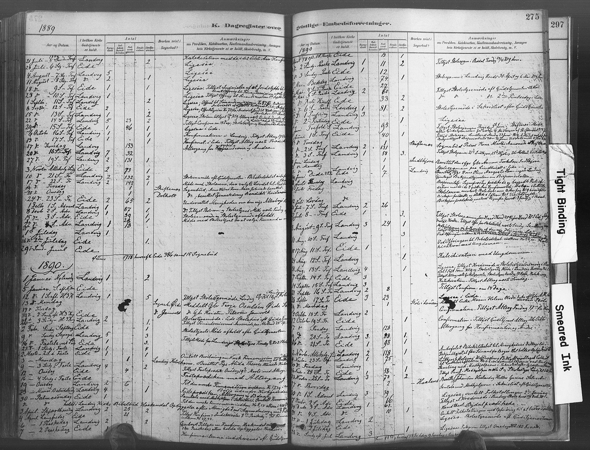 SAK, Hommedal sokneprestkontor, F/Fa/Fab/L0006: Ministerialbok nr. A 6, 1878-1897, s. 275