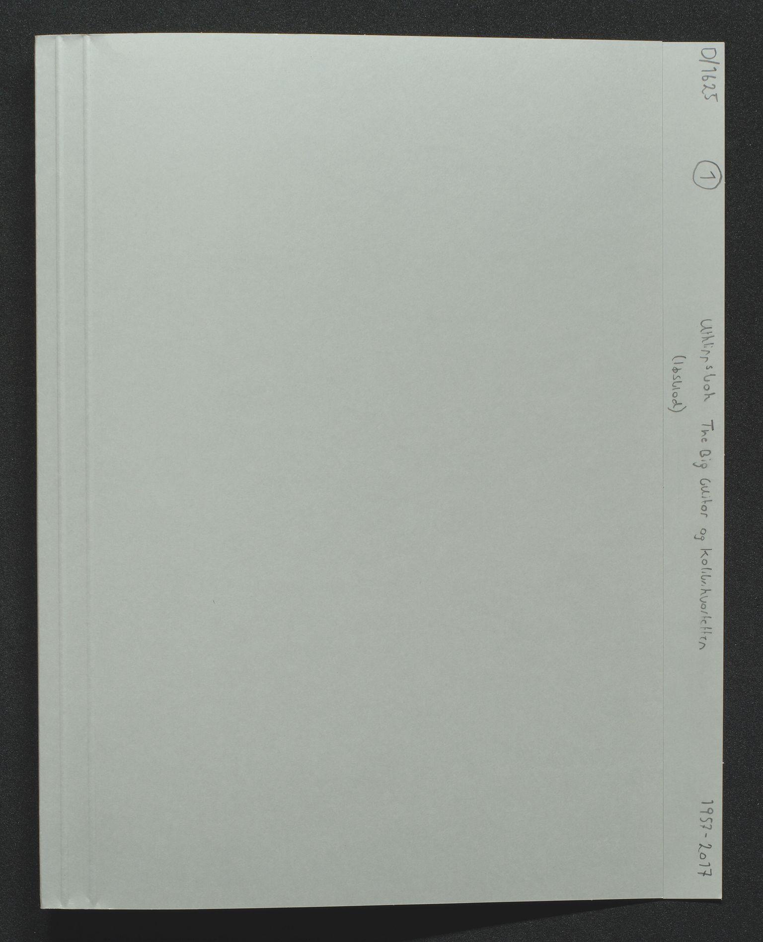 SAK, The Big Guitar og Kolibrikvartetten, Z/Za/L0001: Utklippsbøker, 1957-2018, s. 1