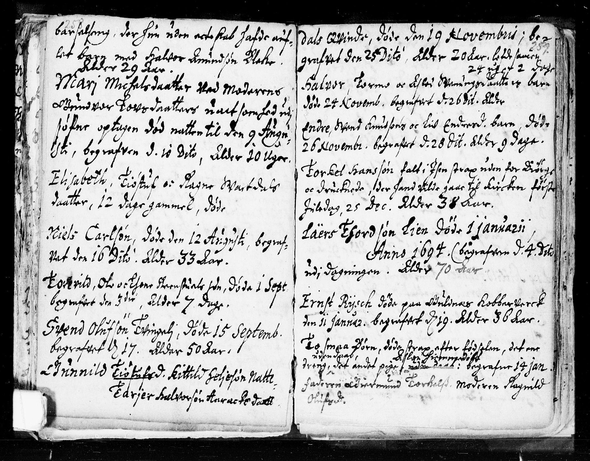SAKO, Seljord kirkebøker, F/Fa/L0002: Ministerialbok nr. I 2, 1689-1713, s. 258-259
