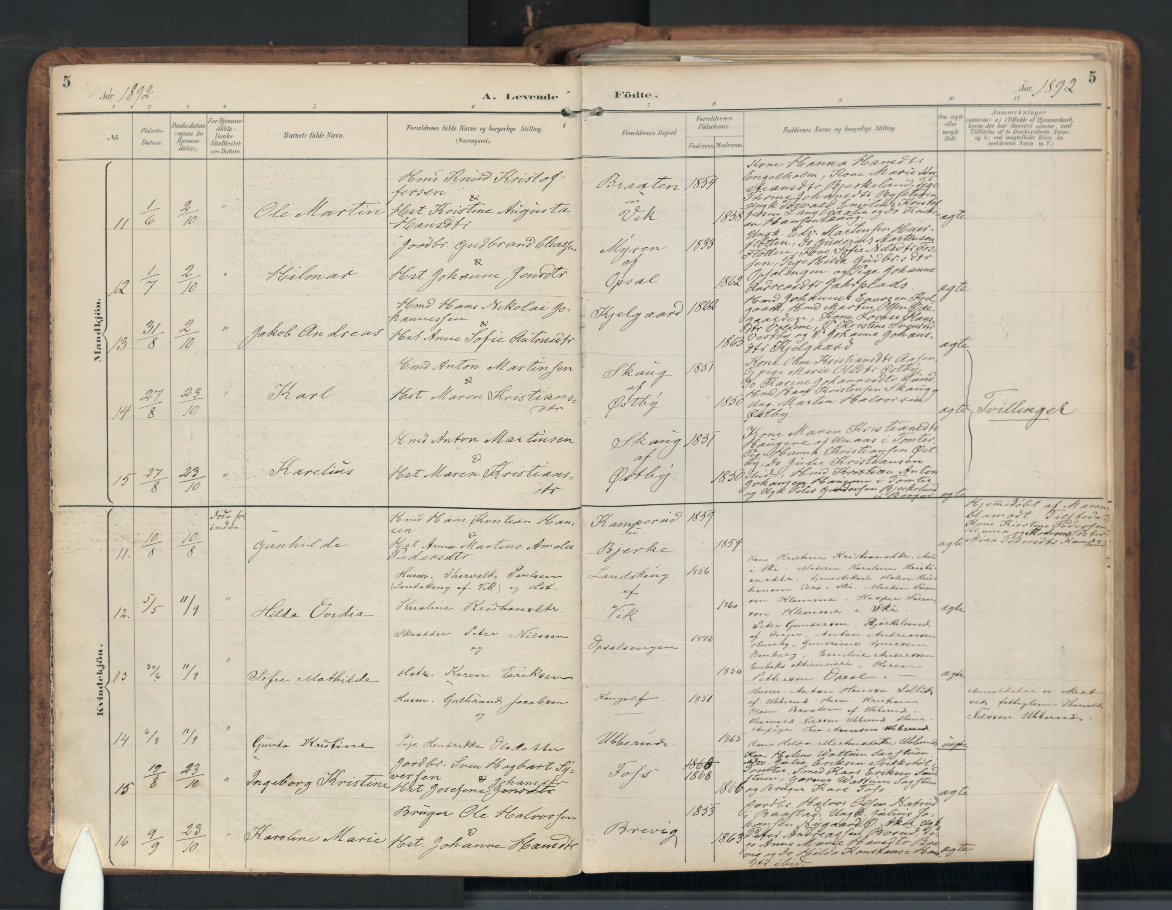 SAO, Enebakk prestekontor Kirkebøker, F/Fb/L0002: Ministerialbok nr. II 2, 1891-1959, s. 5