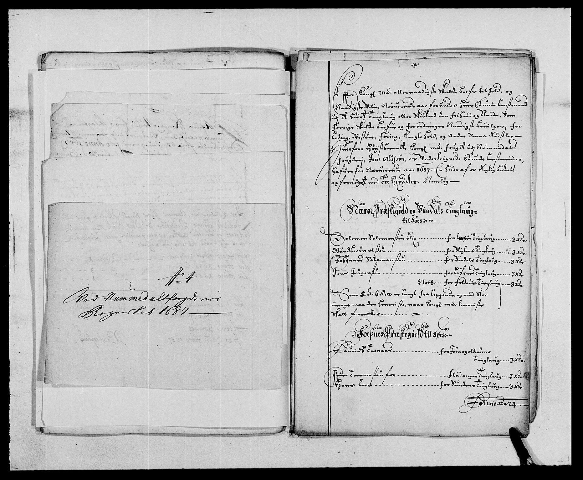 RA, Rentekammeret inntil 1814, Reviderte regnskaper, Fogderegnskap, R64/L4422: Fogderegnskap Namdal, 1687-1689, s. 80