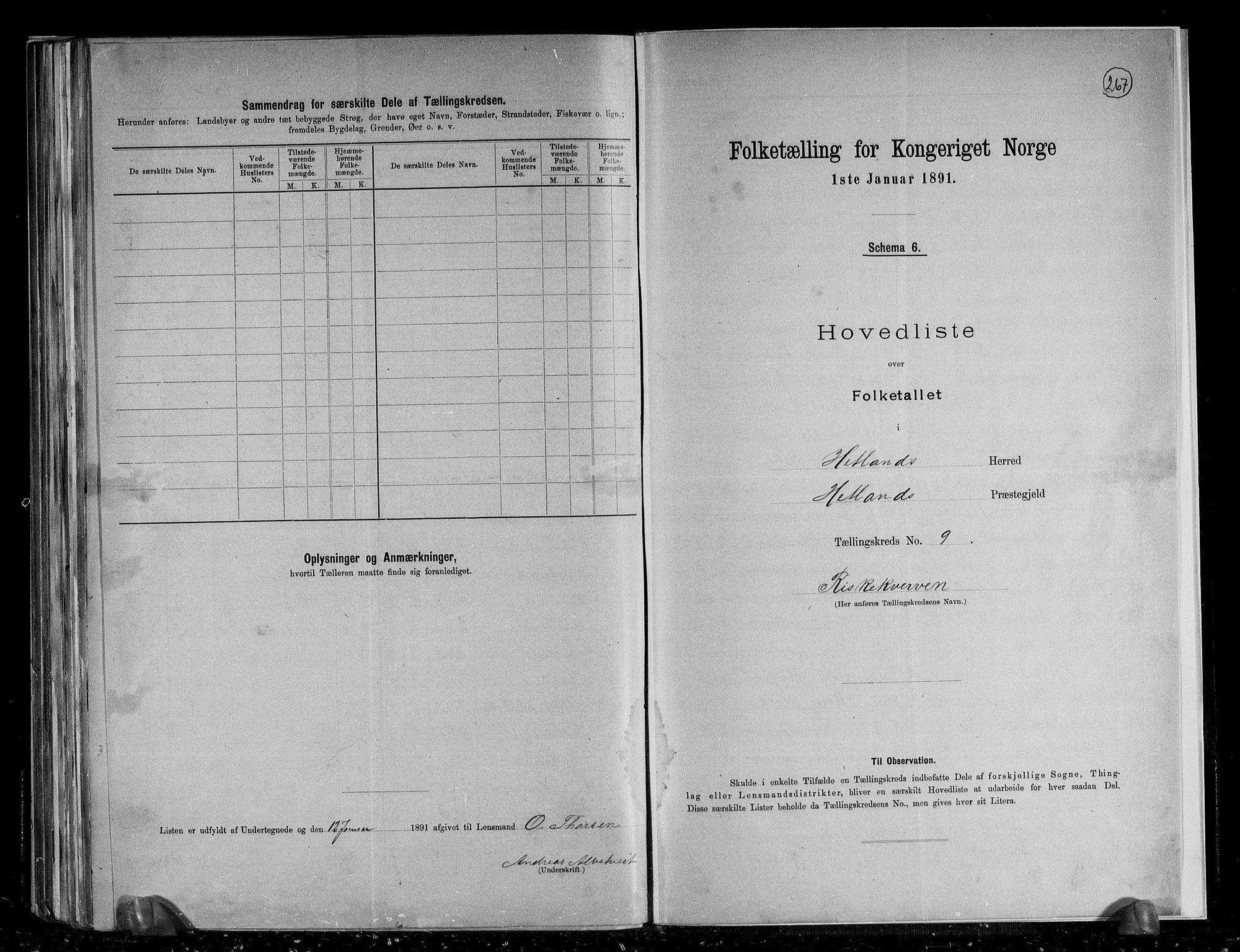 RA, Folketelling 1891 for 1126 Hetland herred, 1891, s. 24