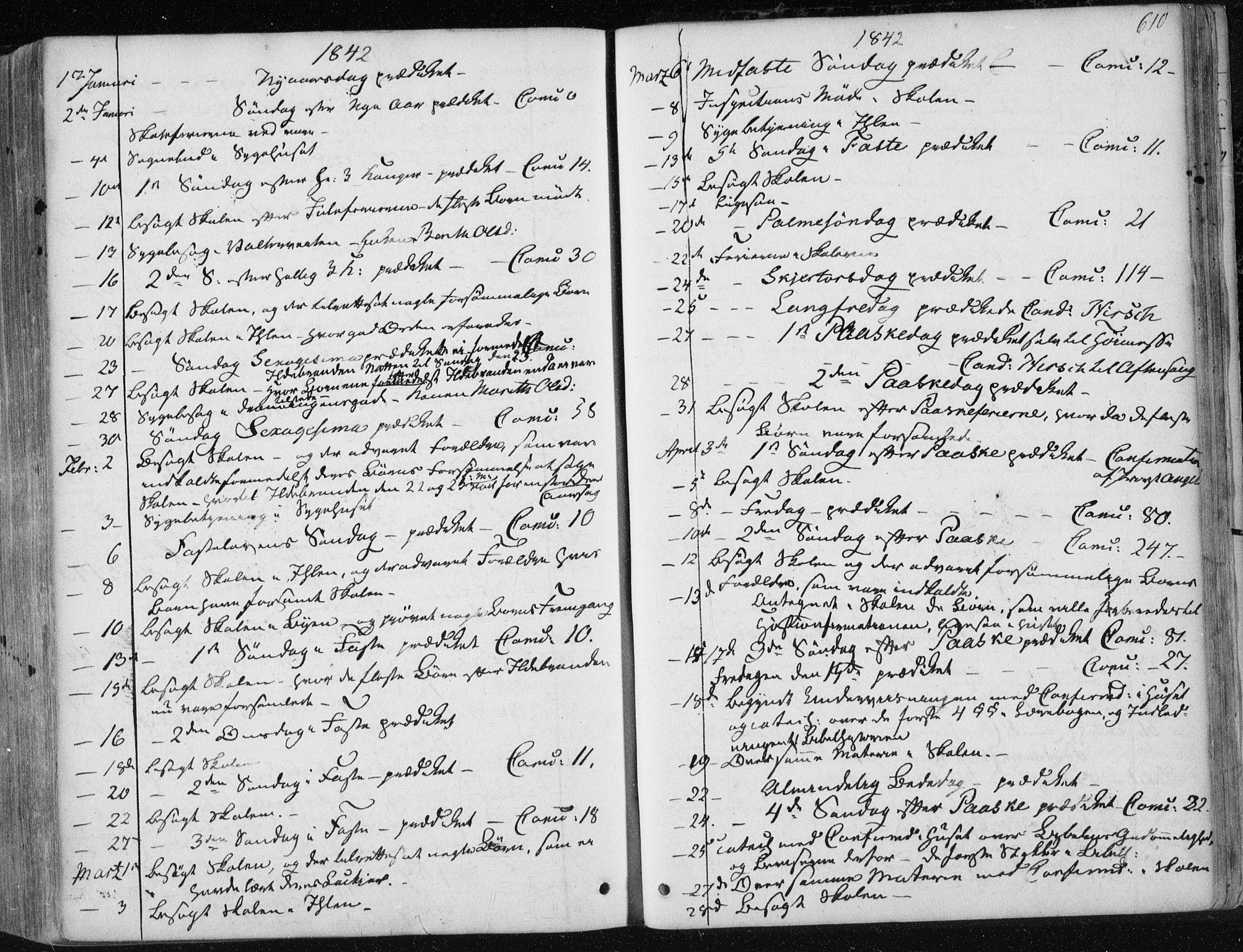 SAT, Ministerialprotokoller, klokkerbøker og fødselsregistre - Sør-Trøndelag, 601/L0049: Ministerialbok nr. 601A17, 1839-1847, s. 610