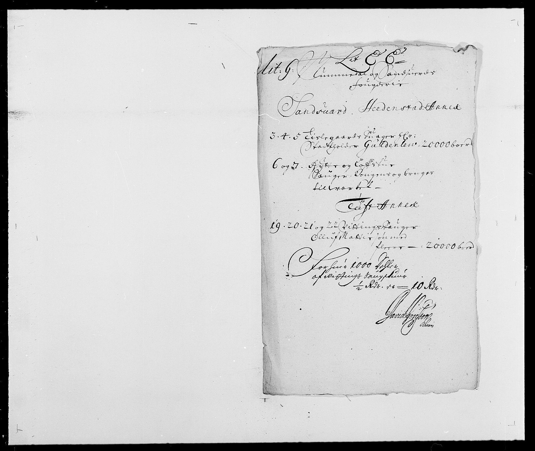 RA, Rentekammeret inntil 1814, Reviderte regnskaper, Fogderegnskap, R24/L1573: Fogderegnskap Numedal og Sandsvær, 1687-1691, s. 448