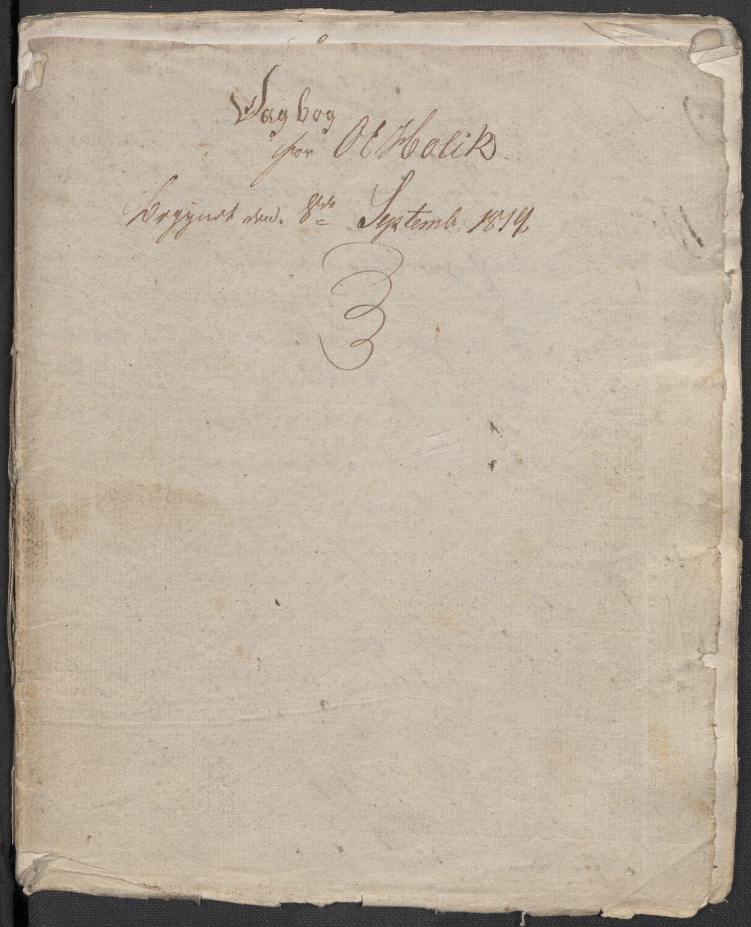 RA, Holck, Meidell, Hartvig, F/L0001: (Kassett) Dagbøker ført av Ole Elias v.Holck, 1798-1842, s. 424