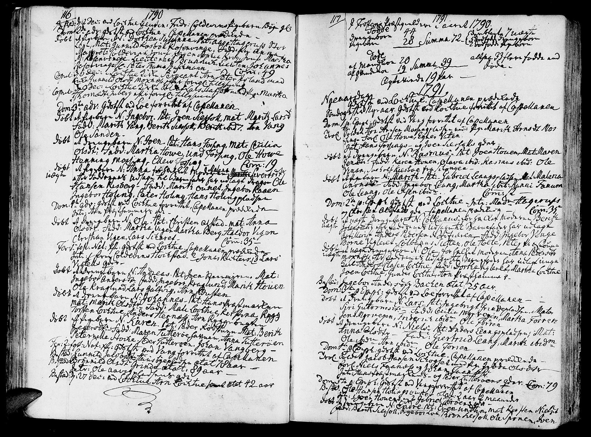 SAT, Ministerialprotokoller, klokkerbøker og fødselsregistre - Nord-Trøndelag, 713/L0110: Ministerialbok nr. 713A02, 1778-1811, s. 116-117
