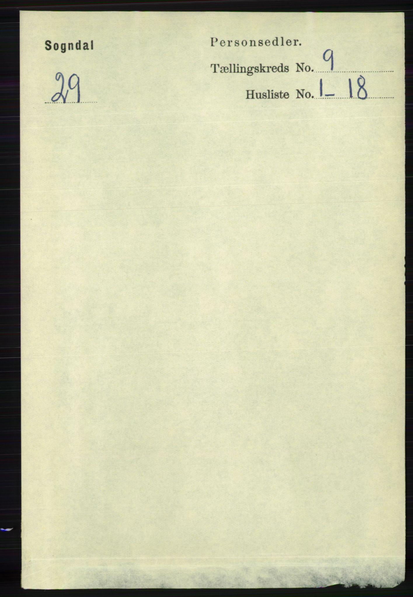RA, Folketelling 1891 for 1111 Sokndal herred, 1891, s. 3153