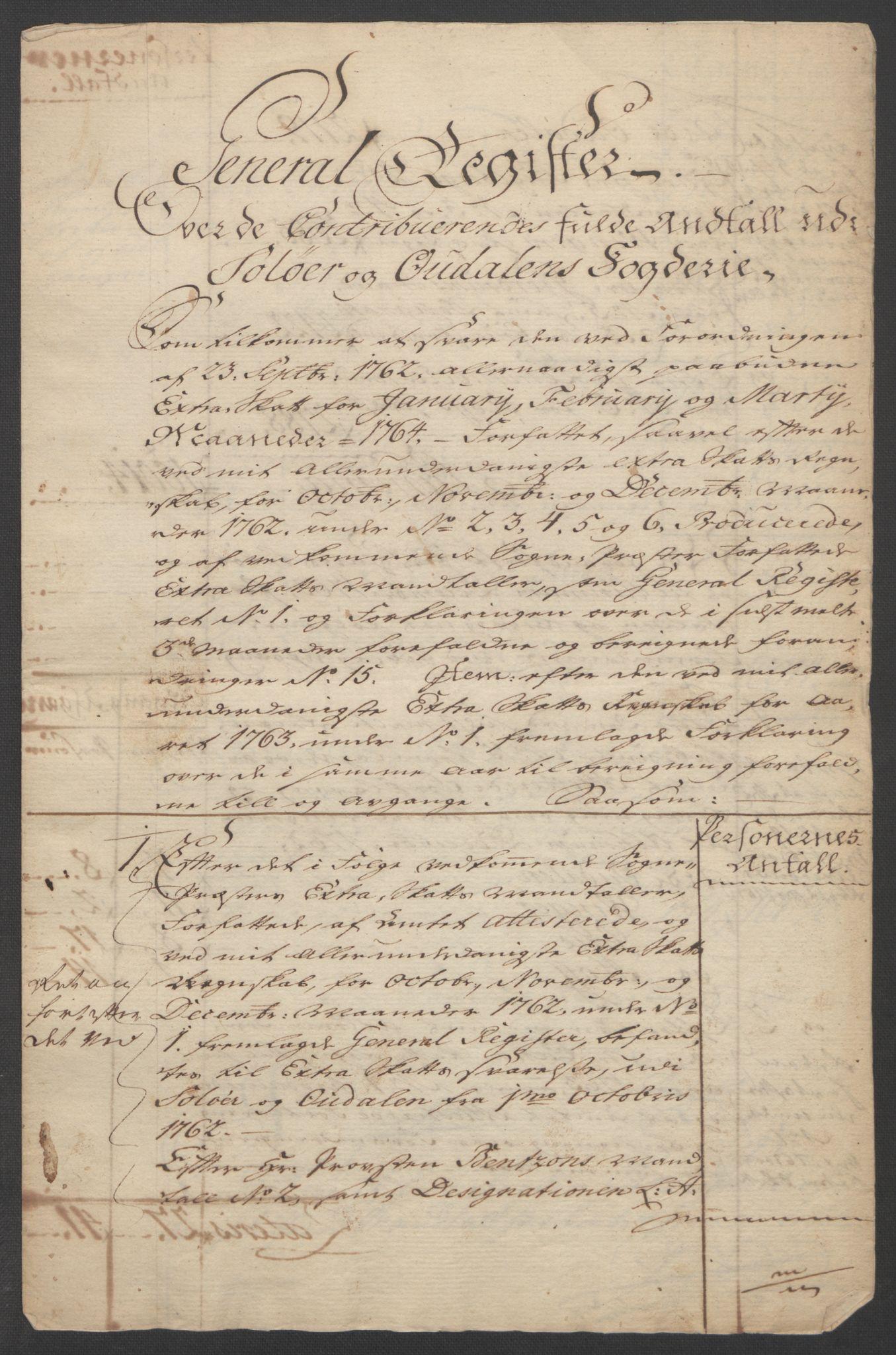 RA, Rentekammeret inntil 1814, Reviderte regnskaper, Fogderegnskap, R14/L0959: Ekstraskatten Solør og Odal, 1763-1770, s. 357