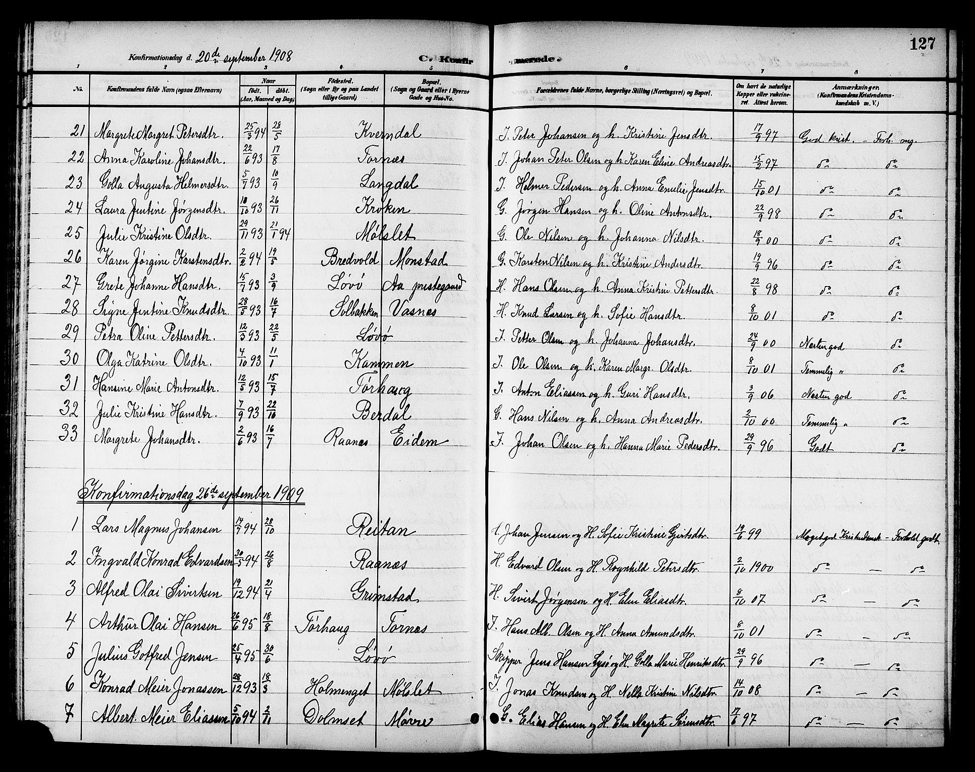 SAT, Ministerialprotokoller, klokkerbøker og fødselsregistre - Sør-Trøndelag, 655/L0688: Klokkerbok nr. 655C04, 1899-1922, s. 127