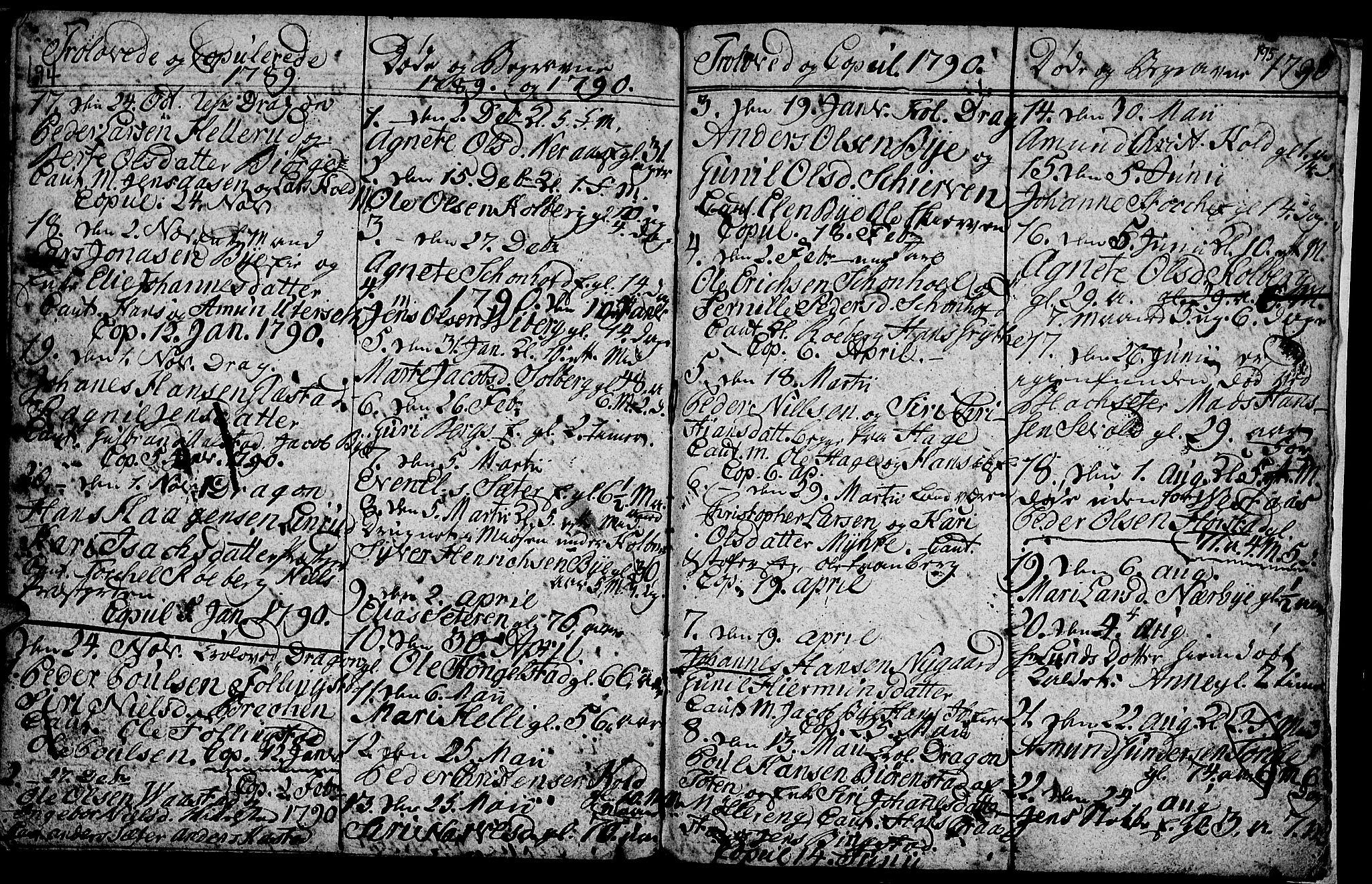 SAH, Vardal prestekontor, H/Ha/Hab/L0001: Klokkerbok nr. 1, 1771-1790, s. 194-195