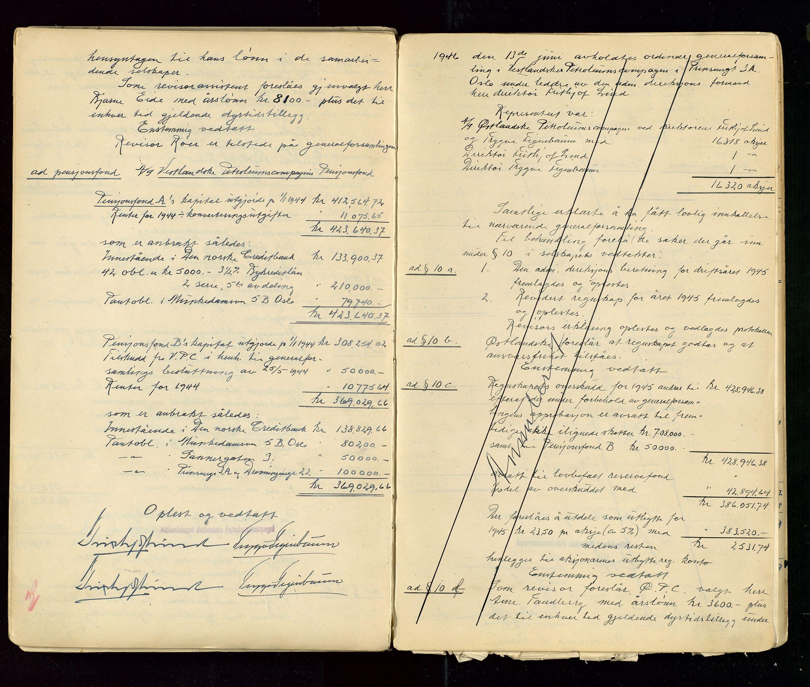 SAST, PA 1533 - A/S Vestlandske Petroleumscompani, A/Aa/L0001: Generalforsamlinger og styreprotokoller, 1890-1953, s. 134