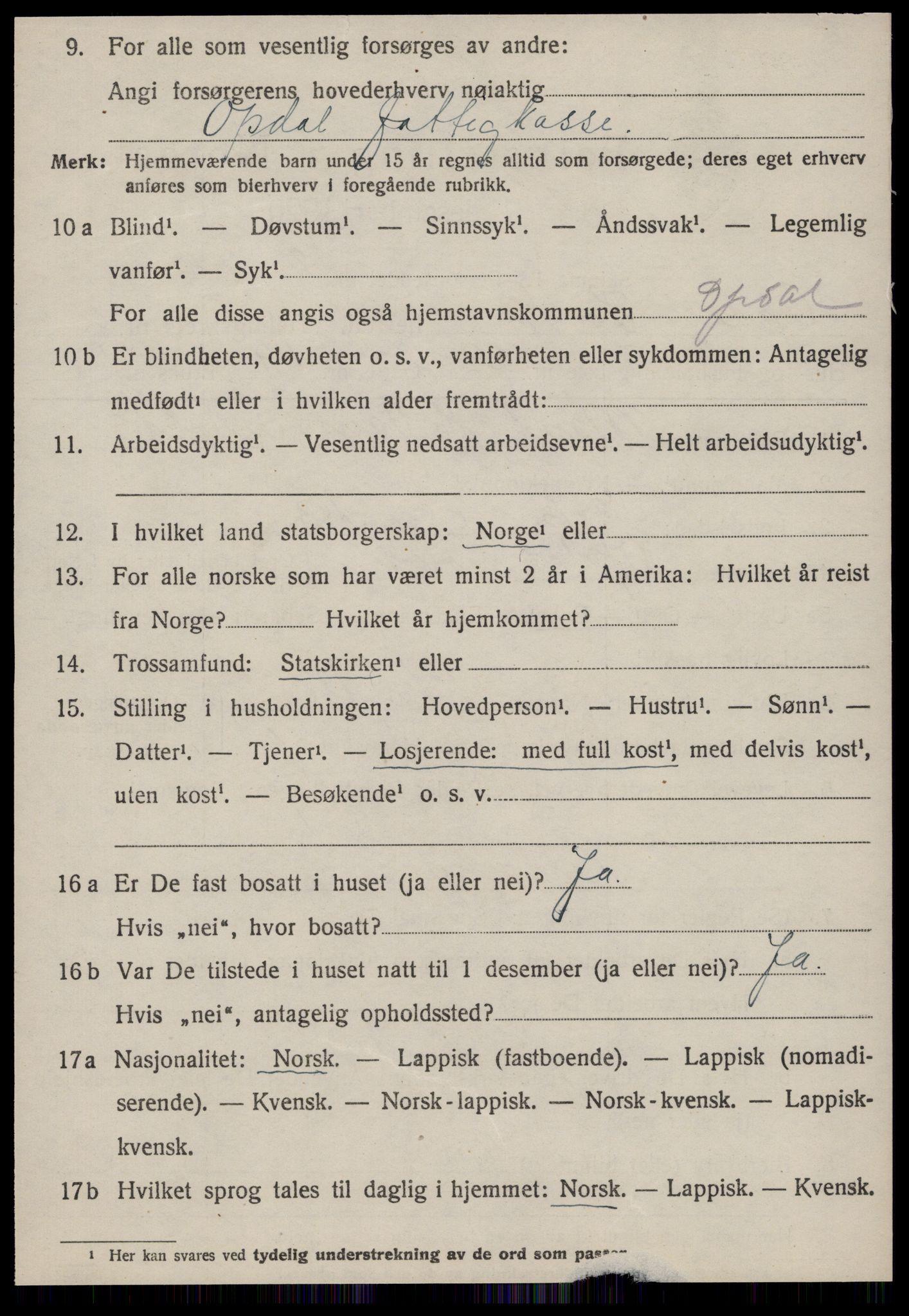 SAT, Folketelling 1920 for 1634 Oppdal herred, 1920, s. 7126
