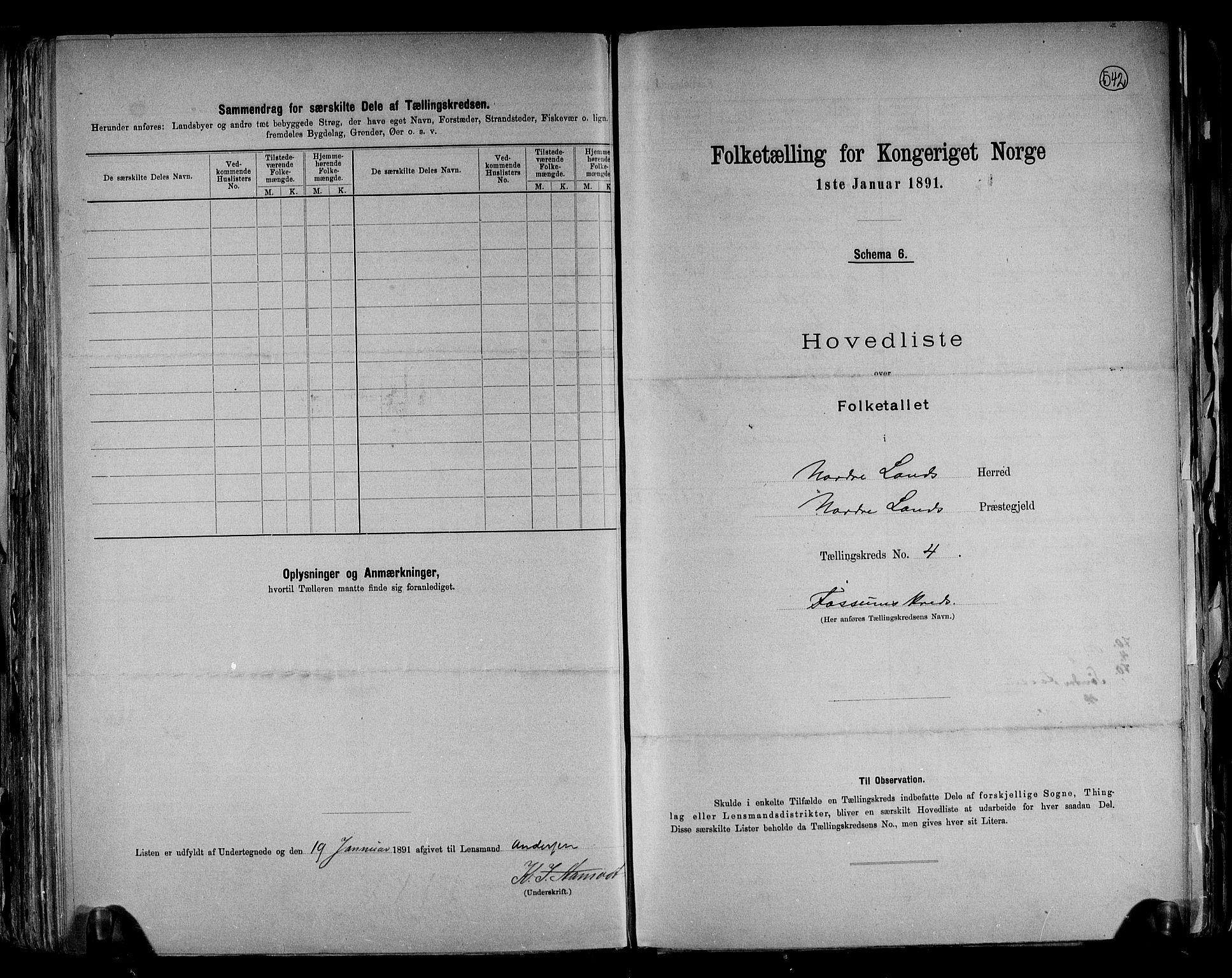 RA, Folketelling 1891 for 0538 Nordre Land herred, 1891, s. 10