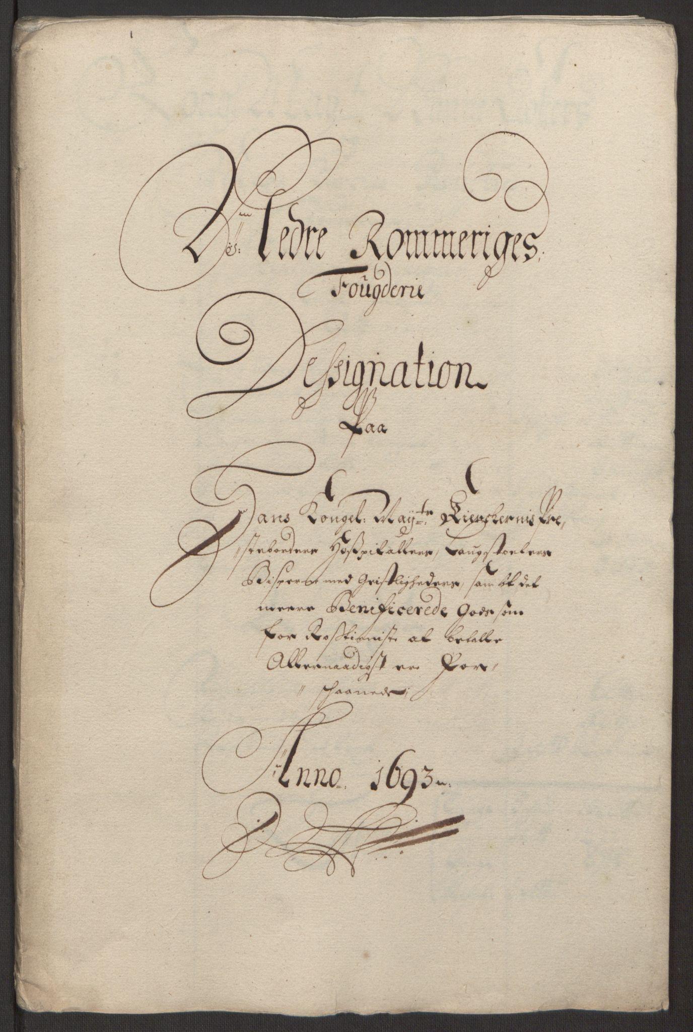 RA, Rentekammeret inntil 1814, Reviderte regnskaper, Fogderegnskap, R11/L0578: Fogderegnskap Nedre Romerike, 1693, s. 210