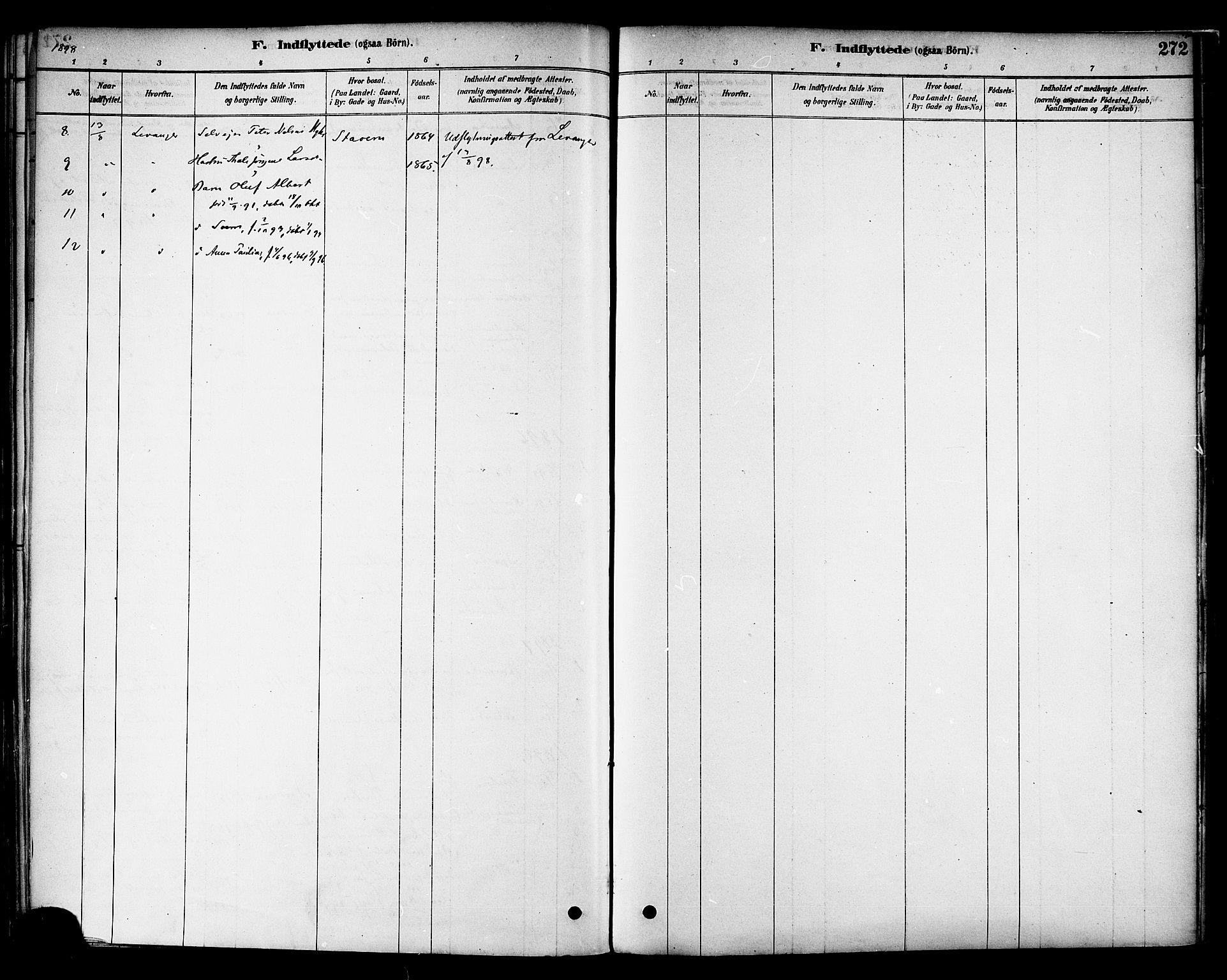 SAT, Ministerialprotokoller, klokkerbøker og fødselsregistre - Nord-Trøndelag, 717/L0159: Ministerialbok nr. 717A09, 1878-1898, s. 272