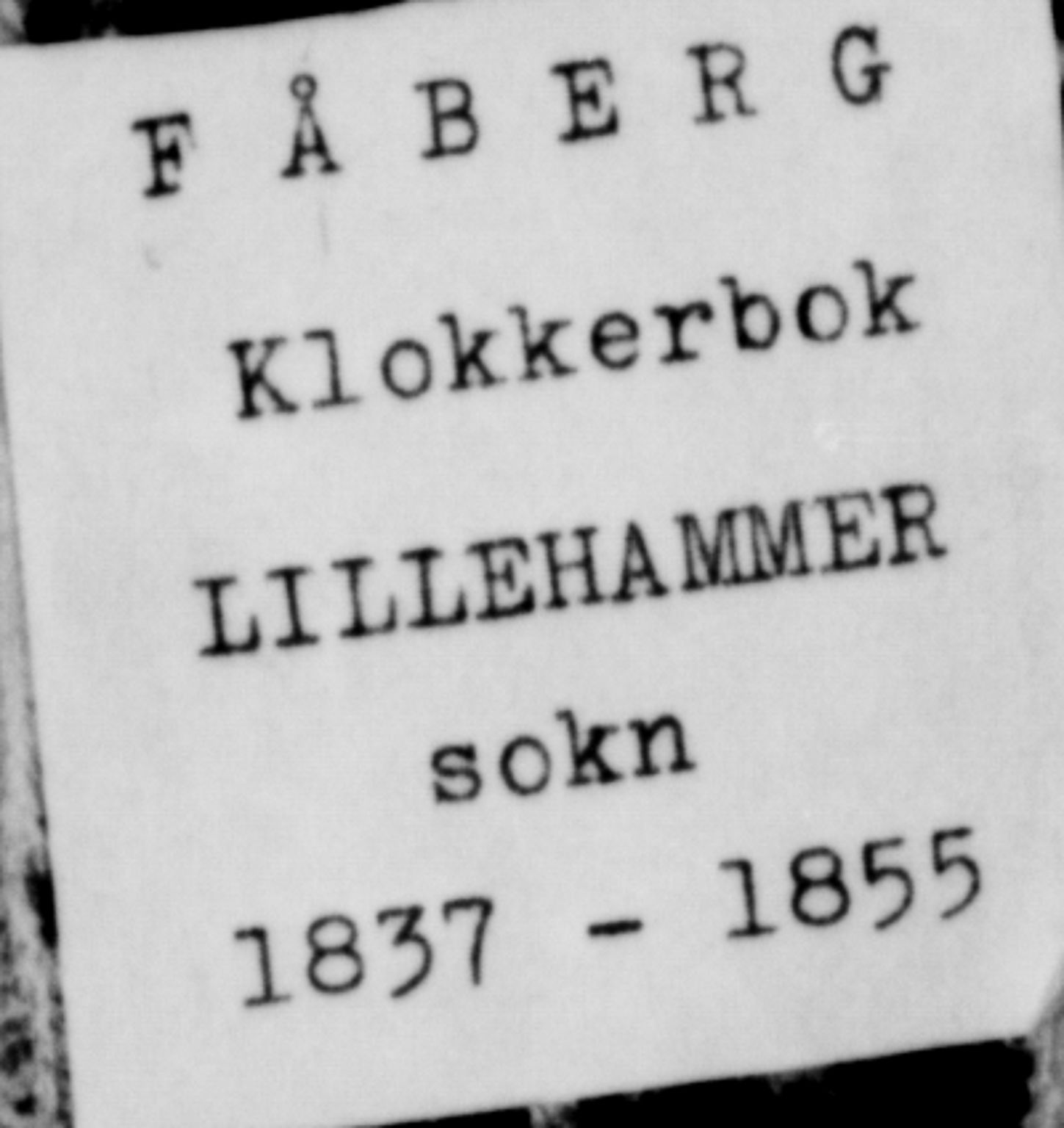 SAH, Fåberg prestekontor, Klokkerbok nr. 6, 1837-1855