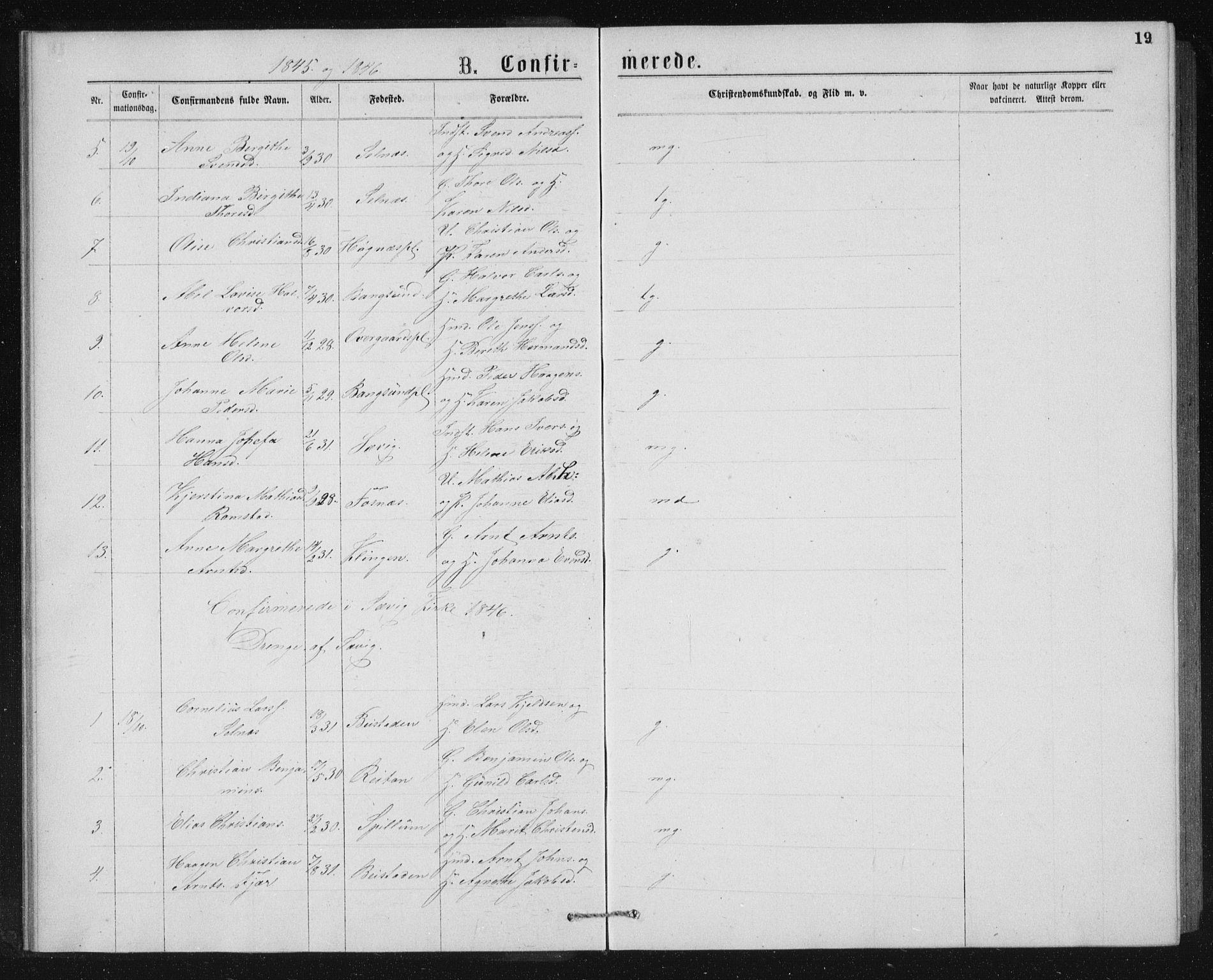 SAT, Ministerialprotokoller, klokkerbøker og fødselsregistre - Nord-Trøndelag, 768/L0567: Ministerialbok nr. 768A02, 1837-1865, s. 19
