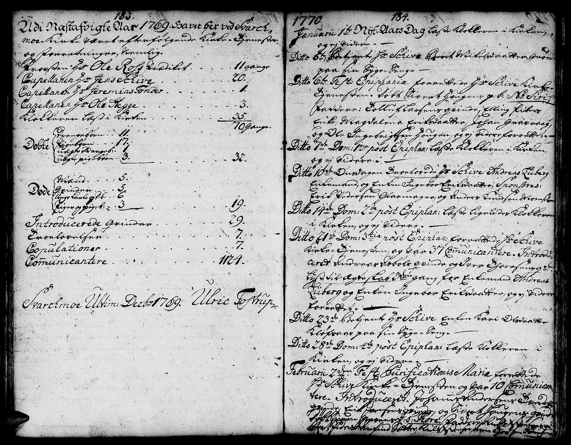 SAT, Ministerialprotokoller, klokkerbøker og fødselsregistre - Sør-Trøndelag, 671/L0840: Ministerialbok nr. 671A02, 1756-1794, s. 183-184